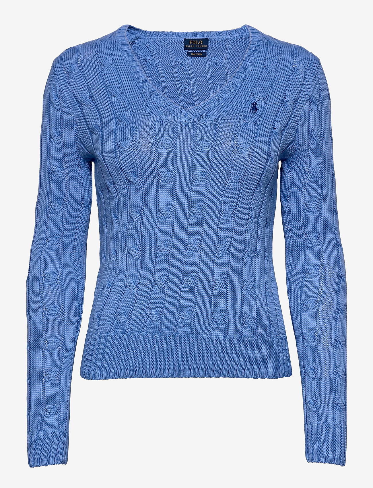 Polo Ralph Lauren - Cable-Knit V-Neck Sweater - jumpers - harbor island blu - 0