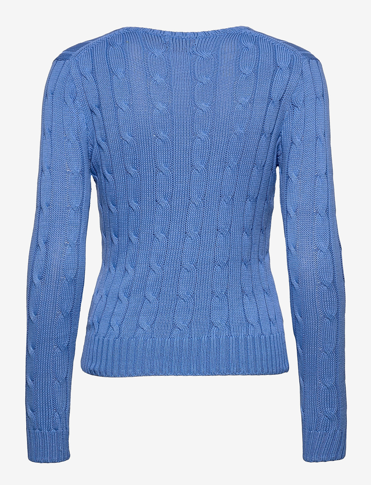 Polo Ralph Lauren - Cable-Knit V-Neck Sweater - jumpers - harbor island blu - 1