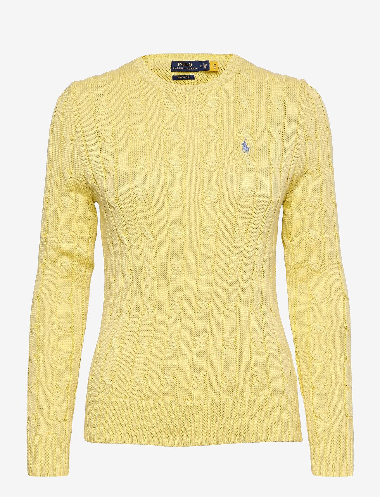 Polo Ralph Lauren - Cable-Knit Cotton Sweater - trøjer - bristol yellow - 0