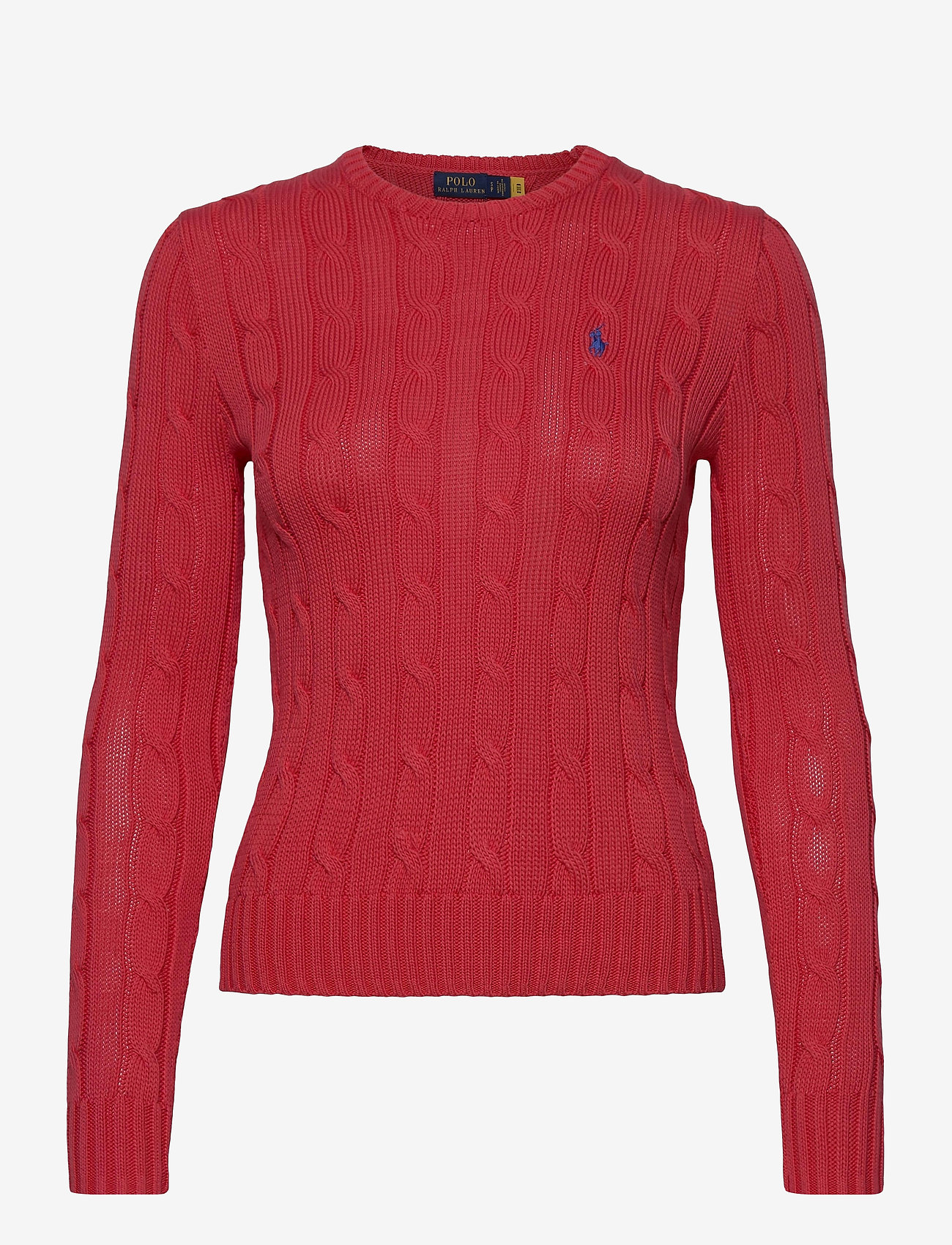 Polo Ralph Lauren - Cable-Knit Cotton Sweater - trøjer - coral - 1