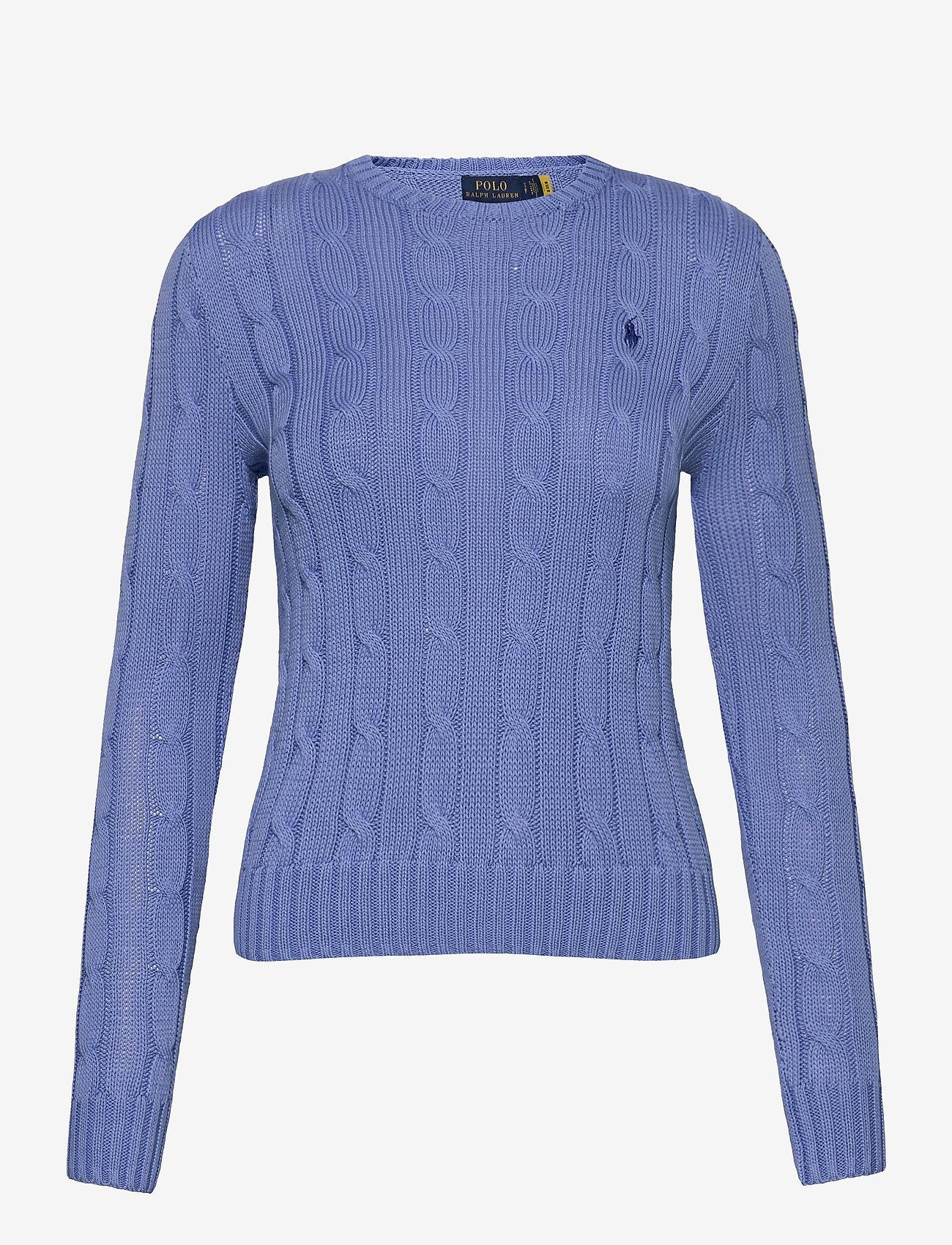 Polo Ralph Lauren - Cable-Knit Cotton Sweater - trøjer - harbor island blu - 1
