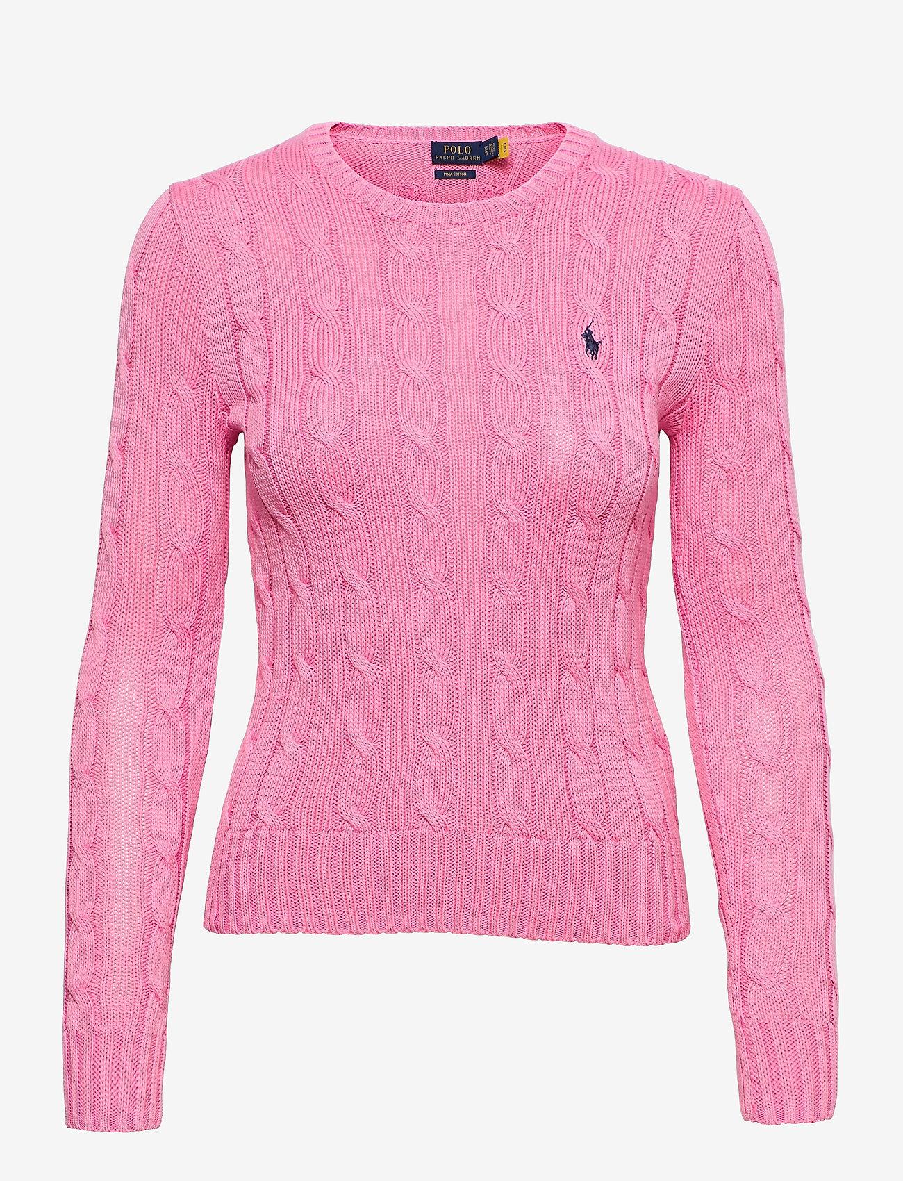 Polo Ralph Lauren - Cable-Knit Cotton Sweater - trøjer - harbor pink - 0