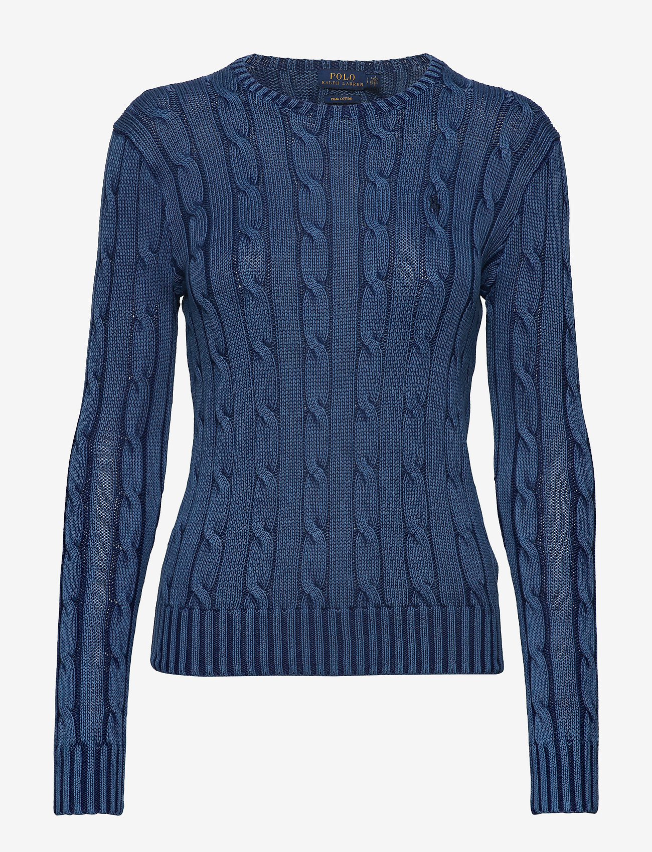 Polo Ralph Lauren - Cable-Knit Cotton Sweater - jumpers - indigo - 0