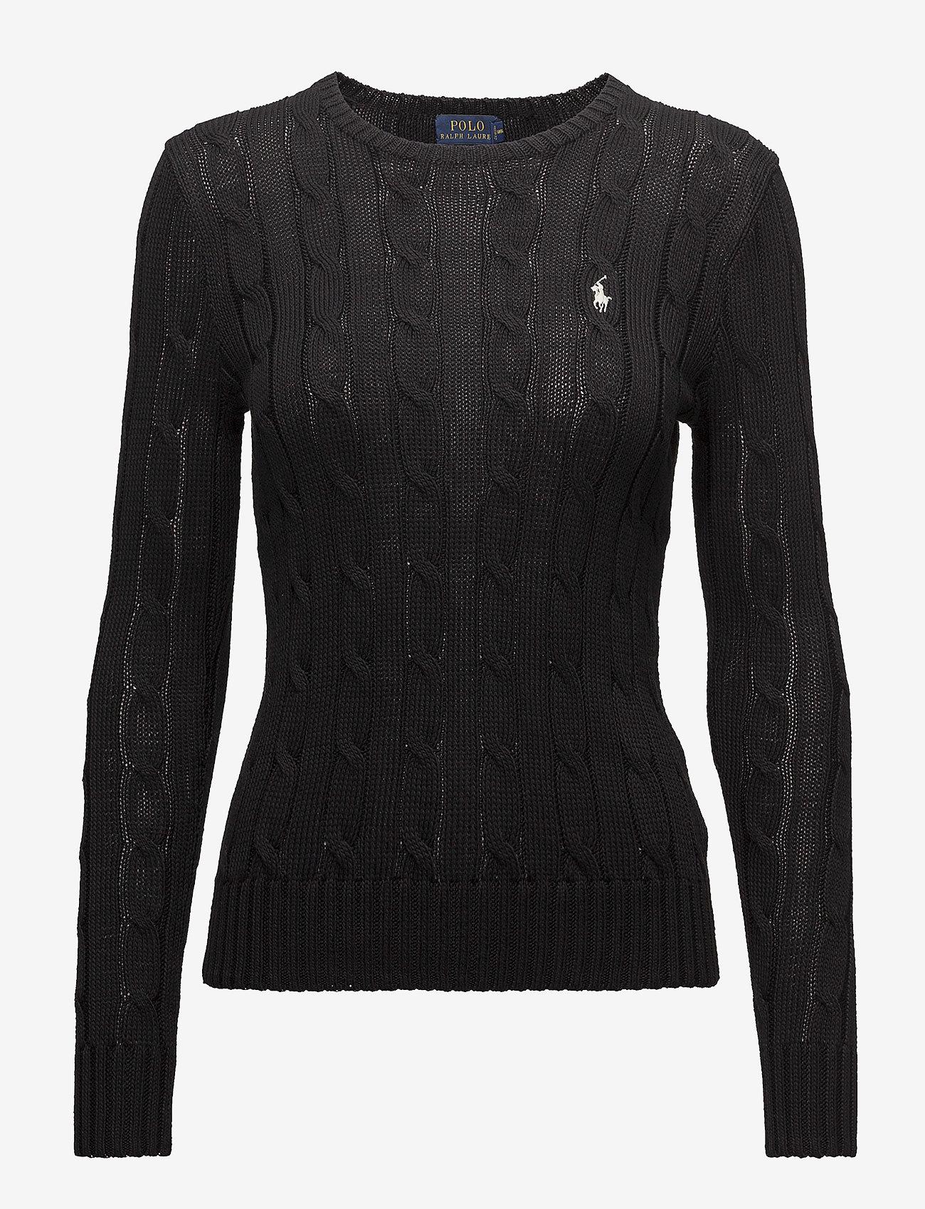 Polo Ralph Lauren - Cable-Knit Cotton Sweater - trøjer - polo black/white - 1