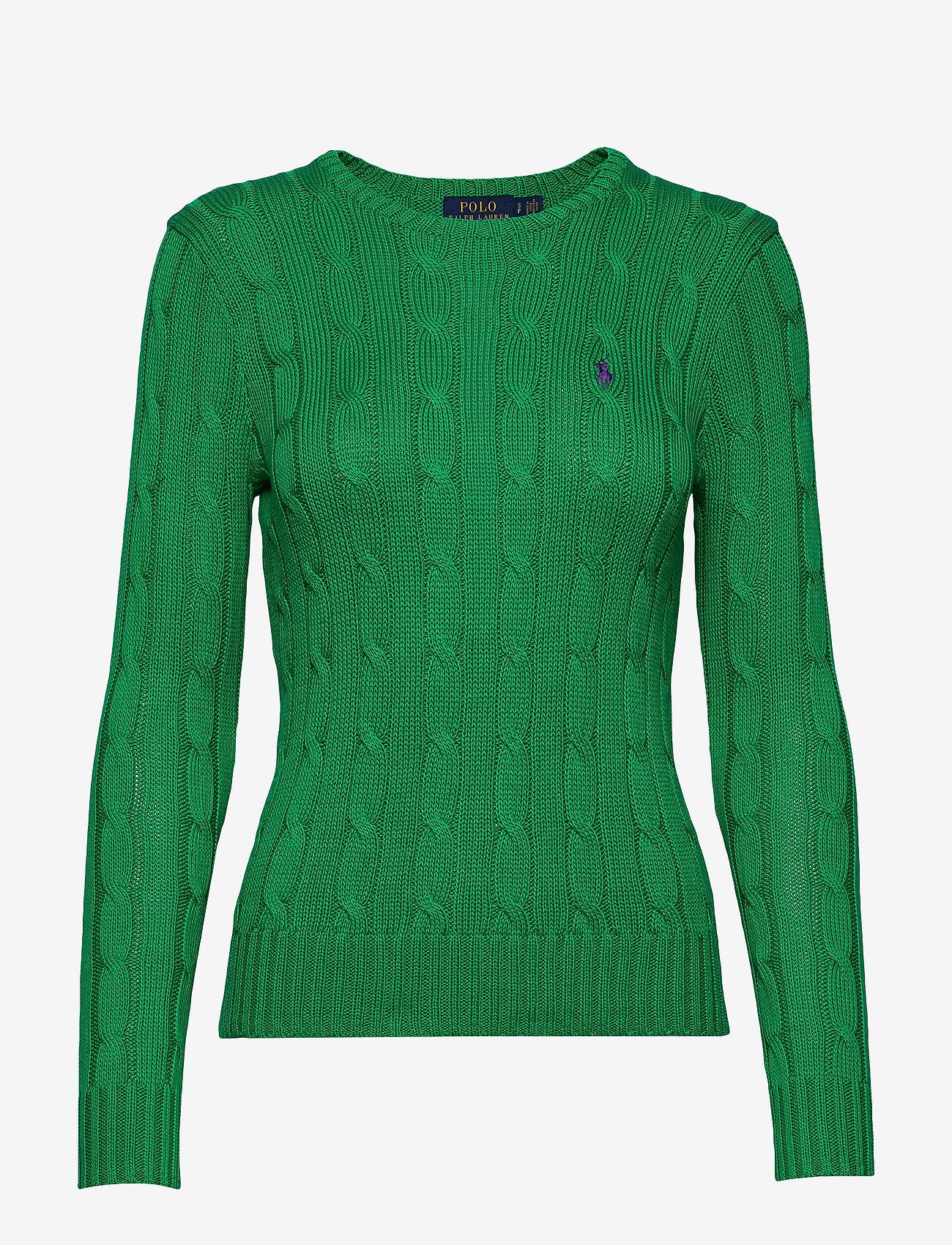 Polo Ralph Lauren - Cable-Knit Cotton Sweater - trøjer - preppy green - 0
