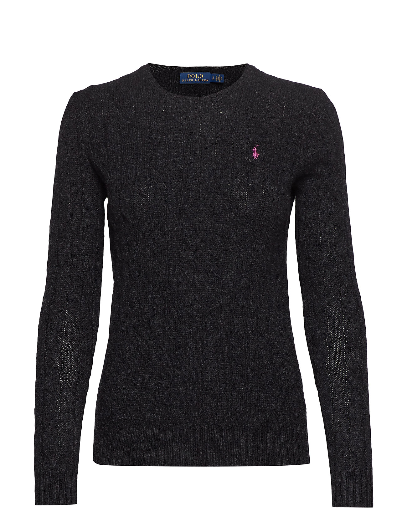 Polo Ralph Lauren Cable Wool-Cashmere Sweater - CHARCOAL HEATHER