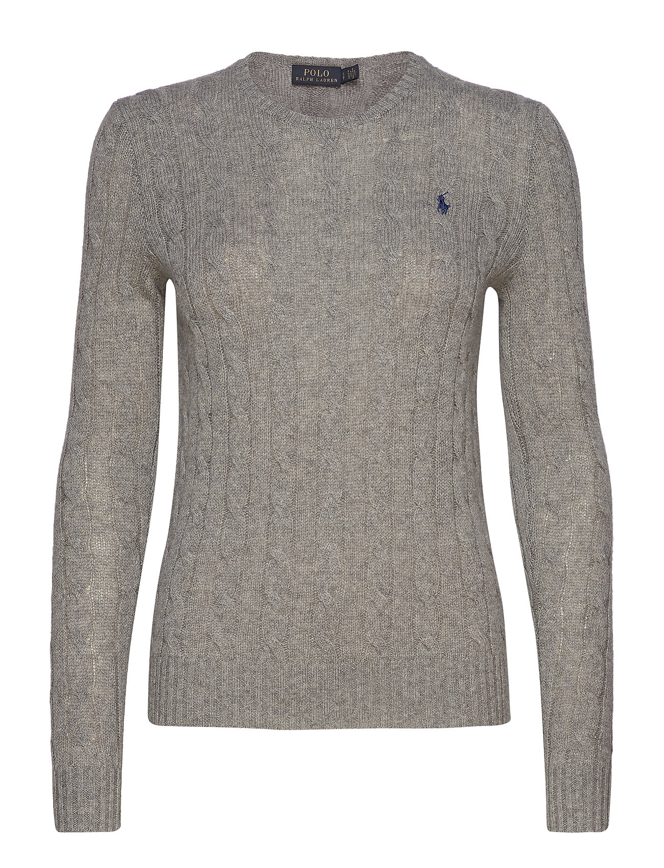 Polo Ralph Lauren Cable Wool-Cashmere Sweater - FAWN GREY HEATHER