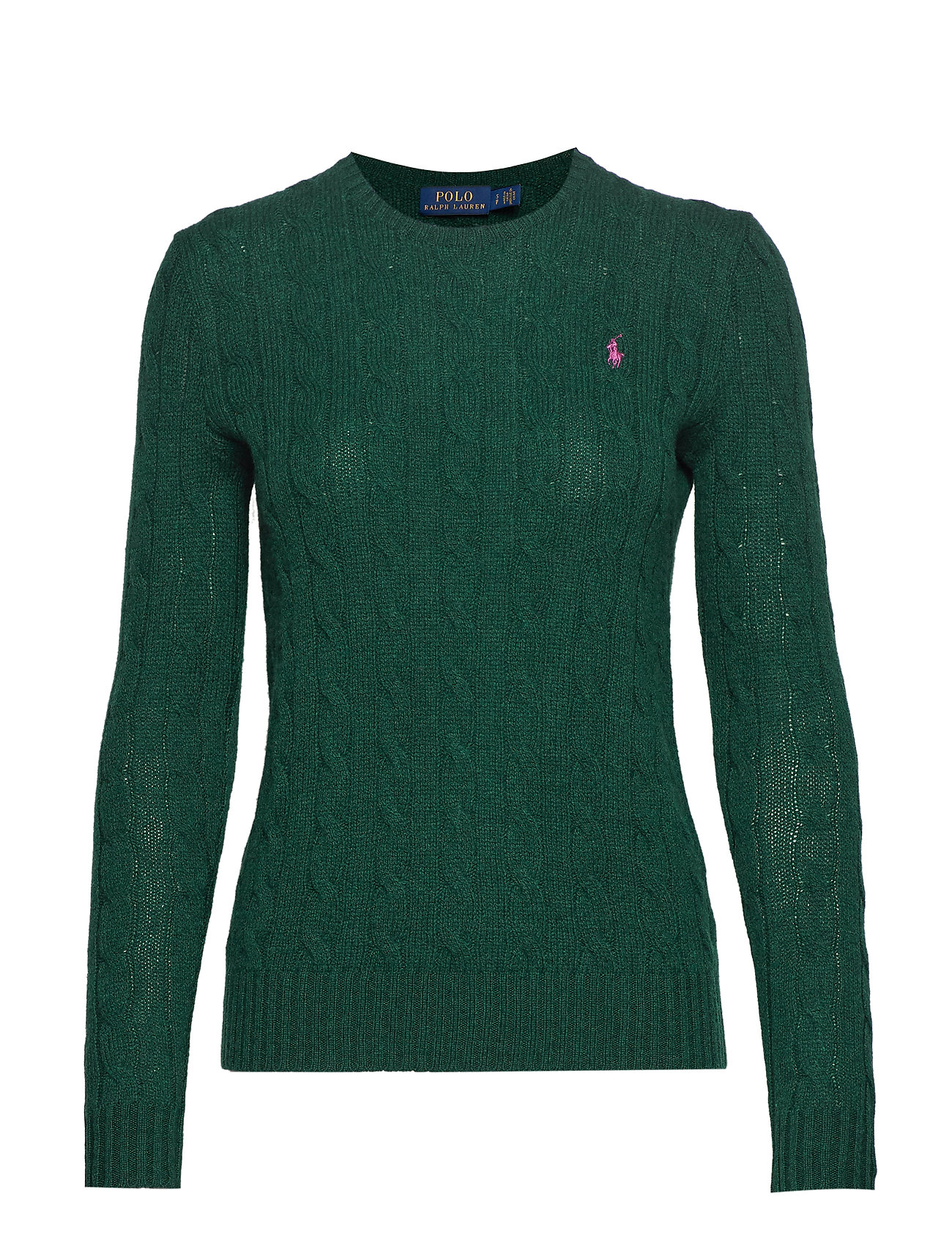 Polo Ralph Lauren Cable Wool-Cashmere Sweater - FOREST GREEN HEAT