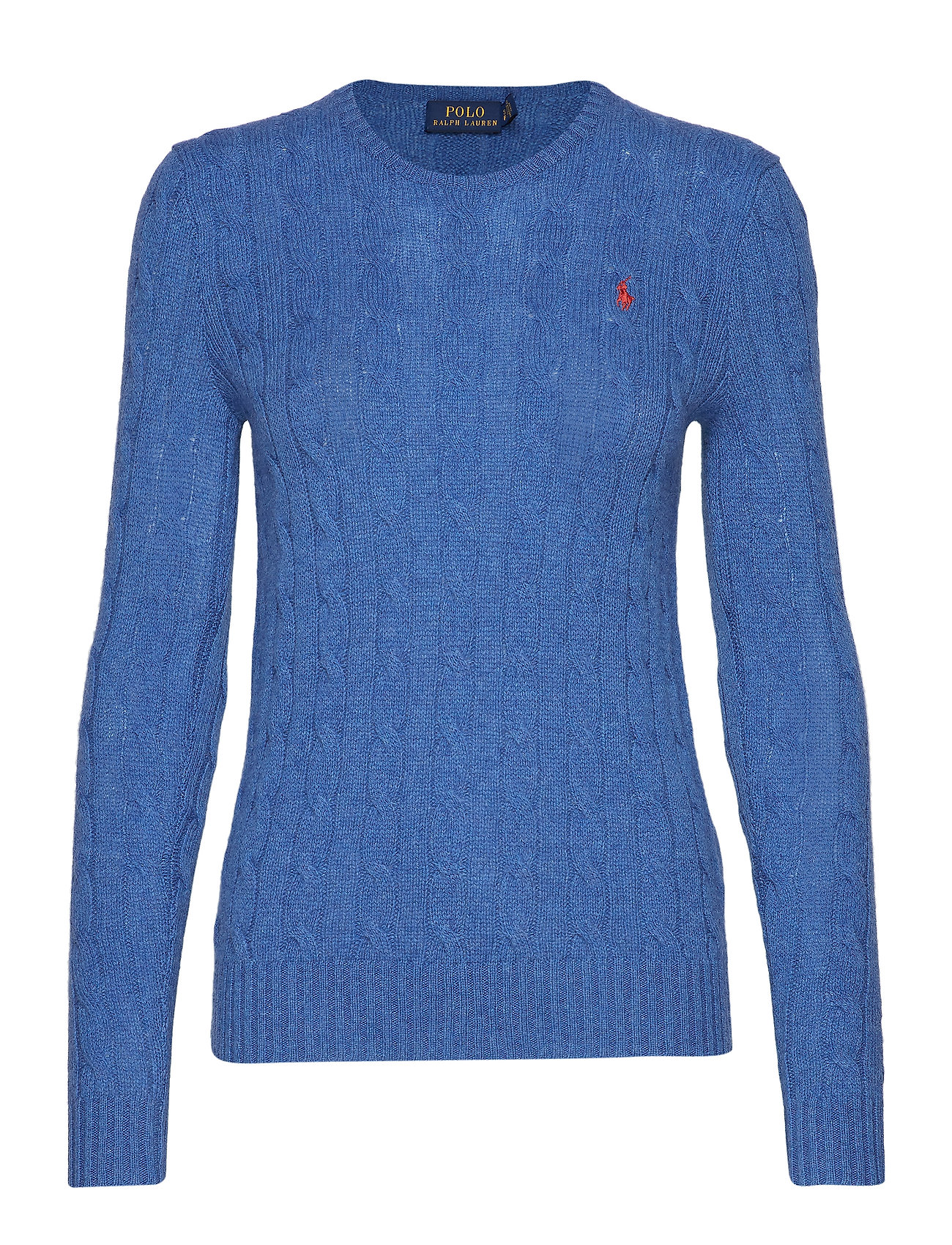 Polo Ralph Lauren Cable Wool-Cashmere Sweater - GENTIAN BLUE HEAT