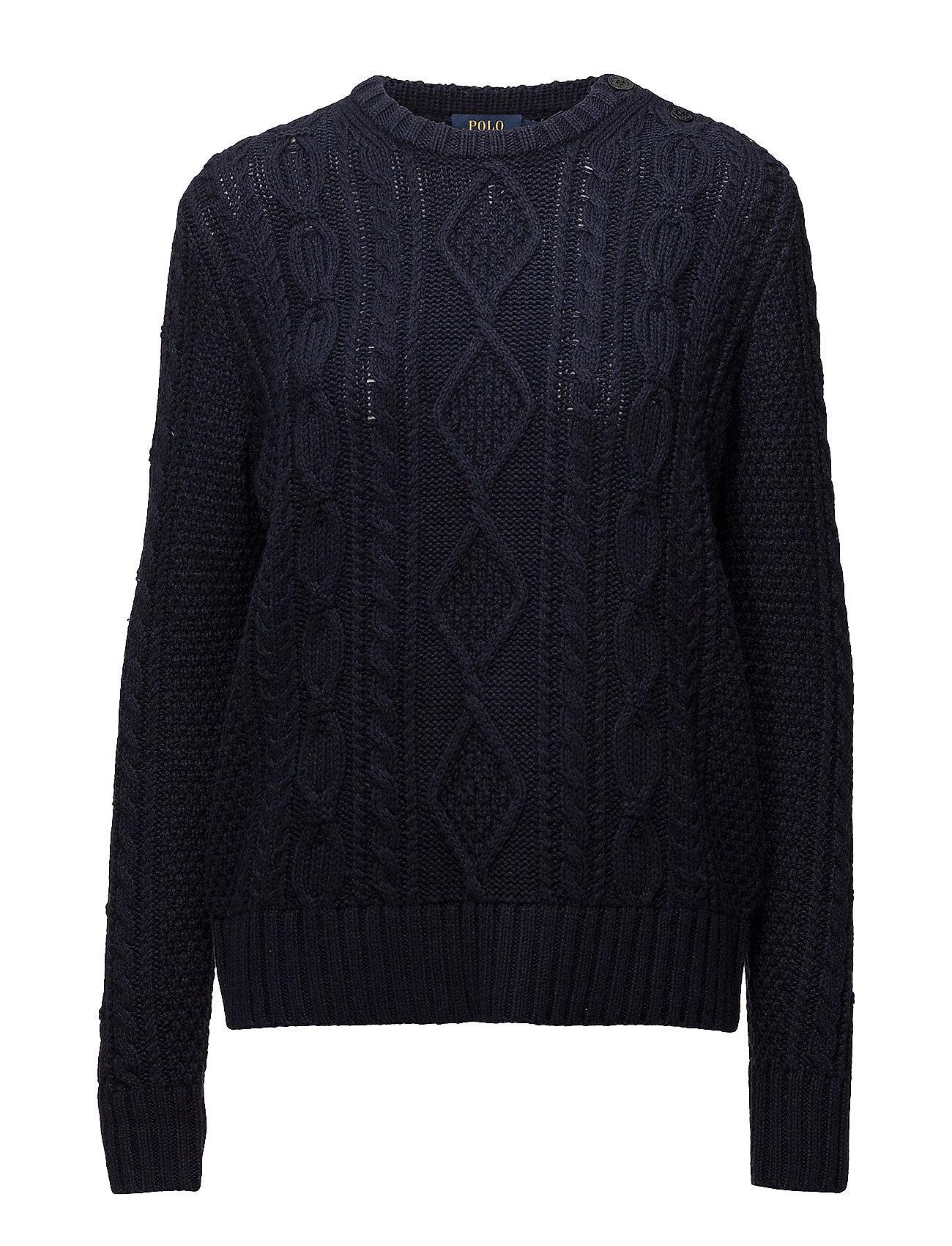 1de0bcb2cd2427 Aran-knit Buttoned Sweater (Hunter Navy) (119.40 €) - Polo Ralph ...