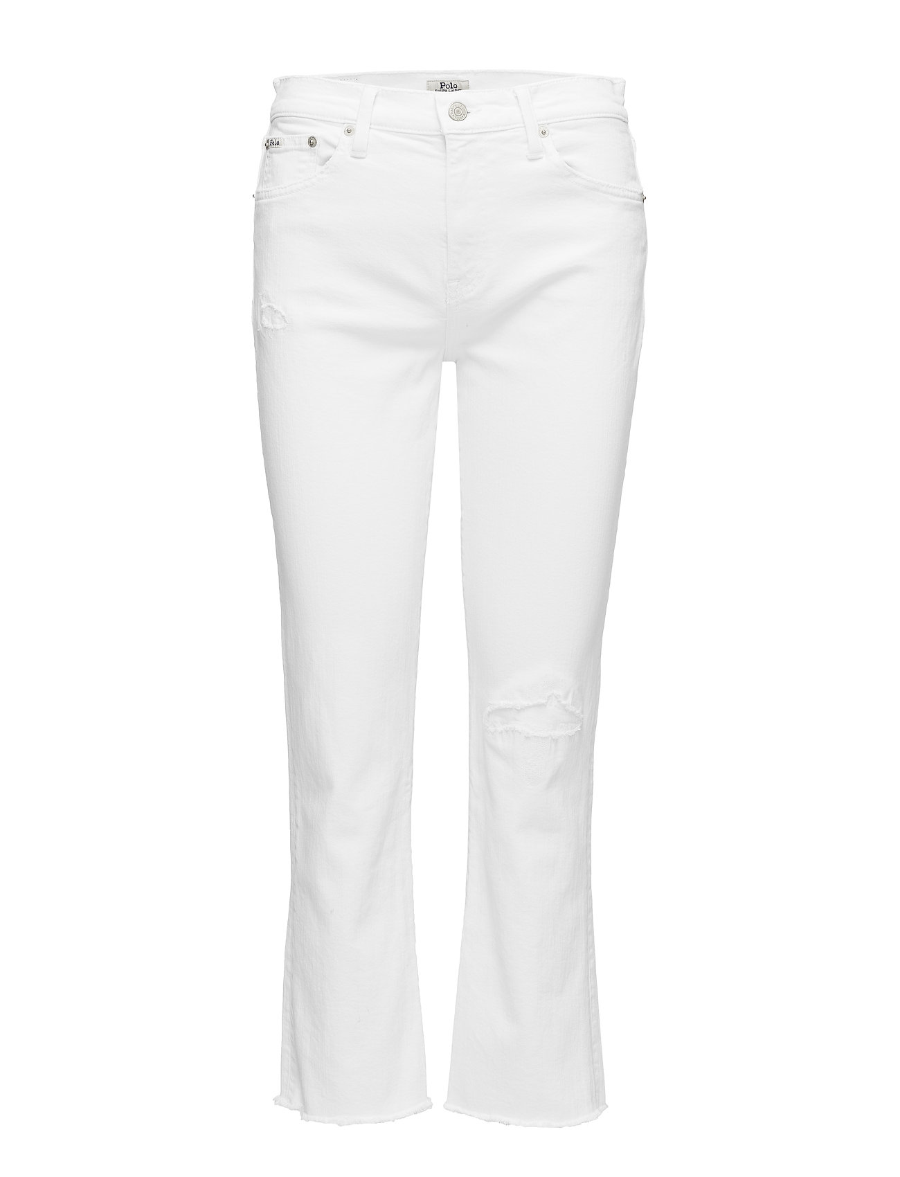 Polo Ralph Lauren Chrystie Kick-Flare Crop Jean - WHITE