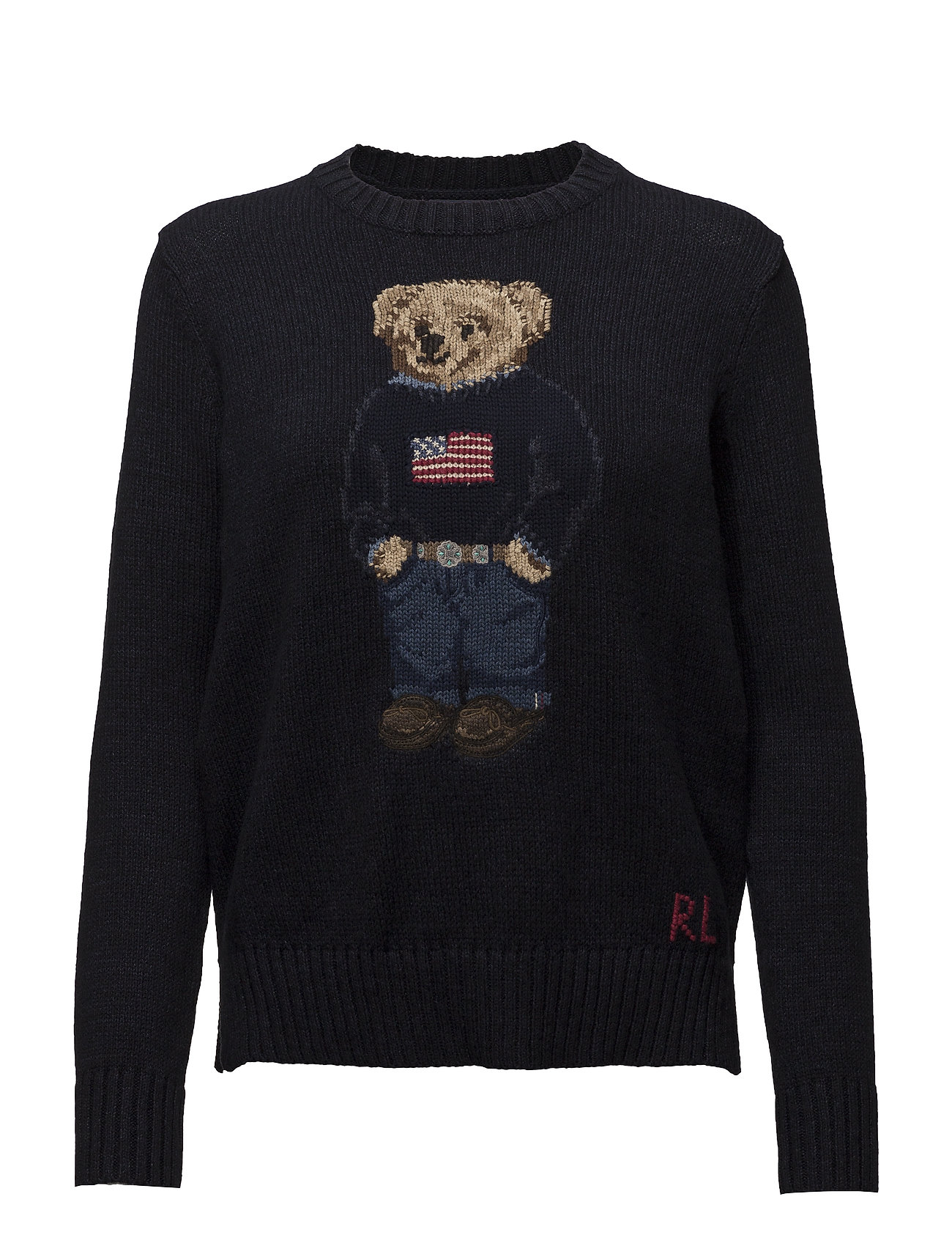 Polo Ralph Lauren Polo Bear Cotton-Linen Sweater - NAVY MULTI
