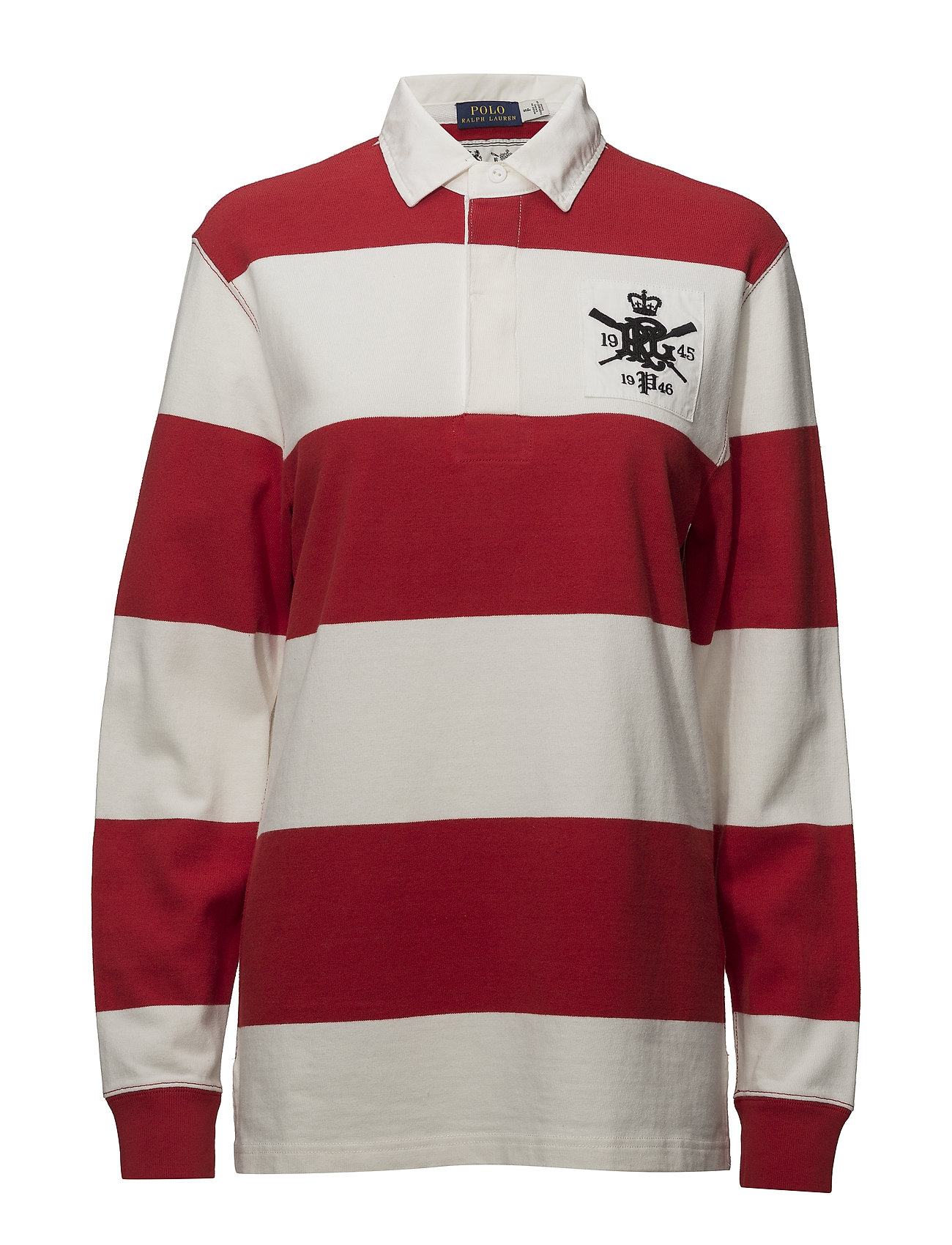 15f413e1f5 Monogram Cotton Rugby Shirt (Rl2000 Red/deckwa) (£90.75) - Polo ...