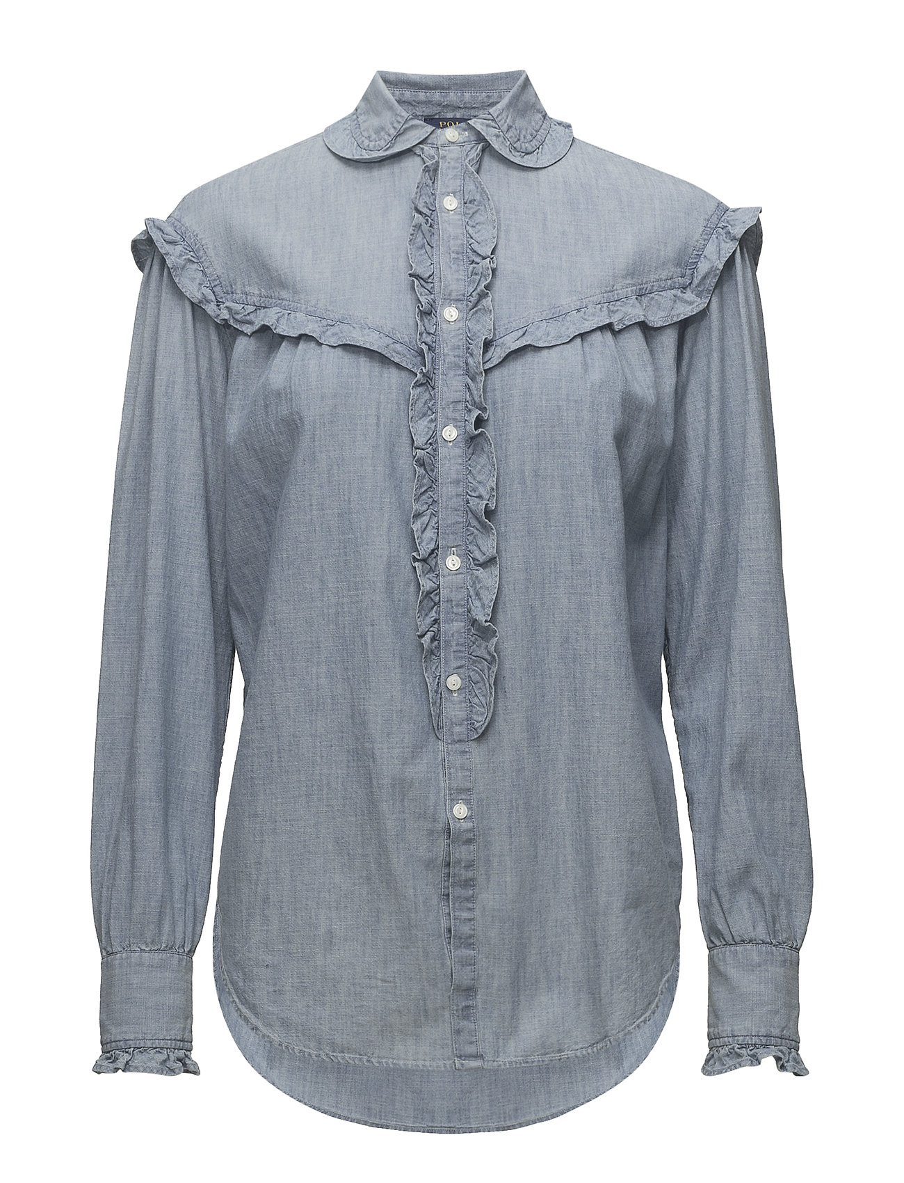 Polo Ralph Lauren Ruffle Trim Denim Shirt