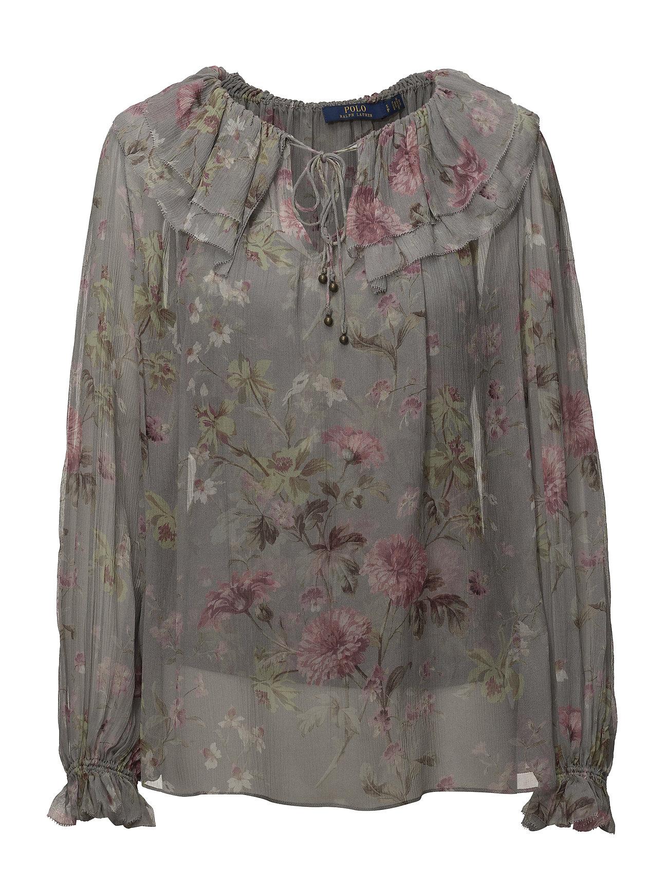 Polo Ralph Lauren Sheer Silk Floral Blouse - ELTON FLORAL