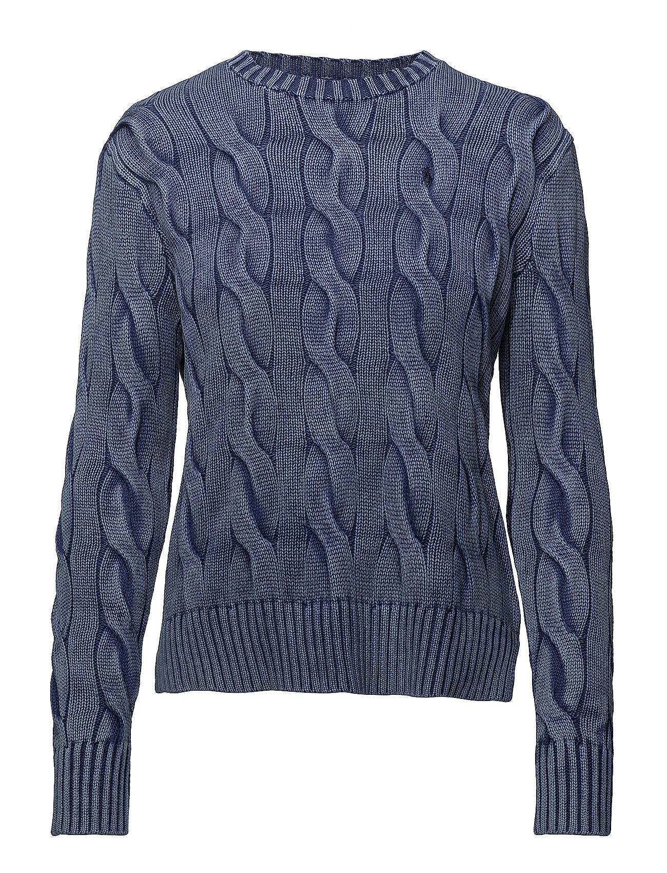 87562a2a9071 Cable-knit Cotton Sweater (Indigo) (£77.35) - Polo Ralph Lauren ...