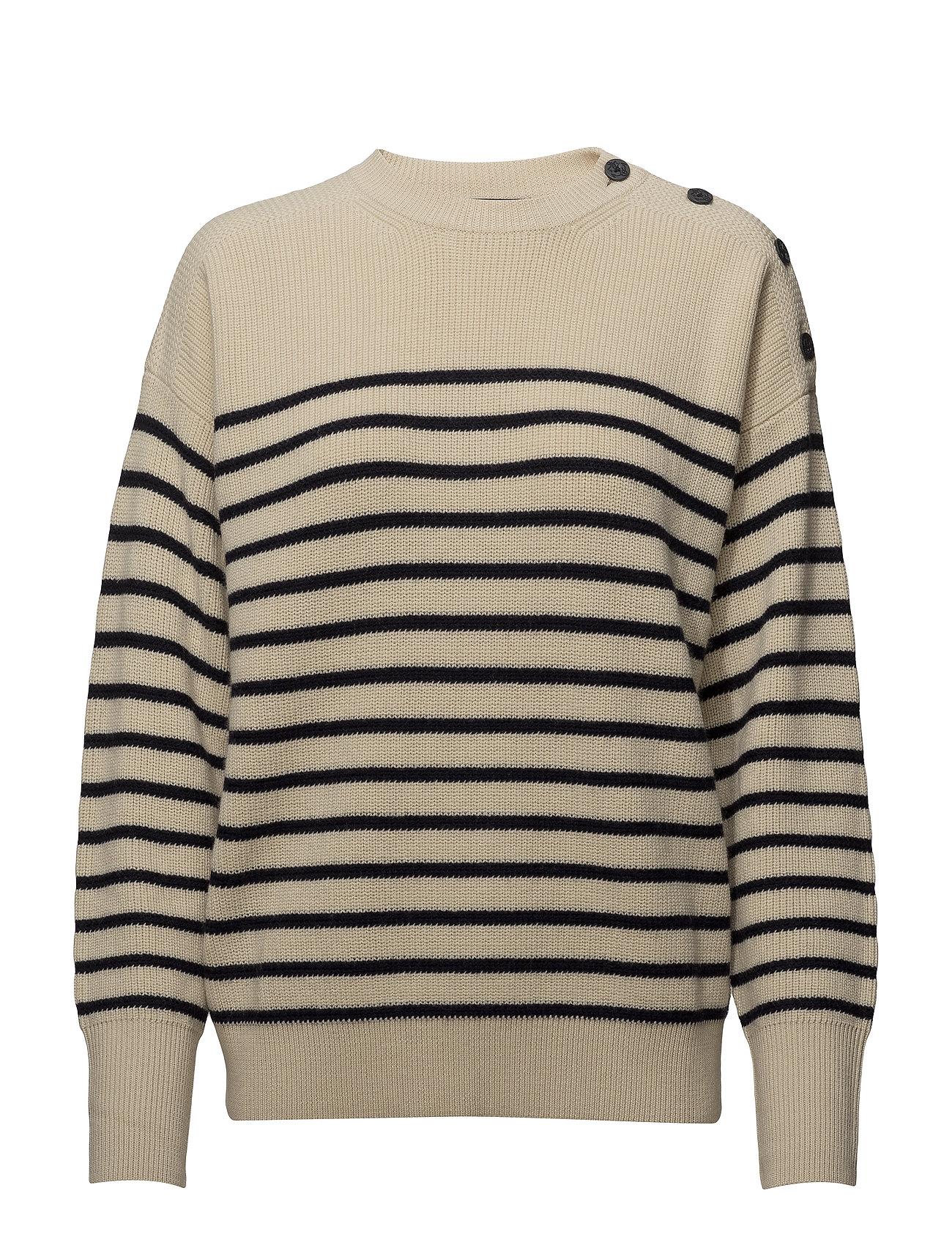Polo Ralph Lauren Button Shoulder Wool Sweater Ögrönlar