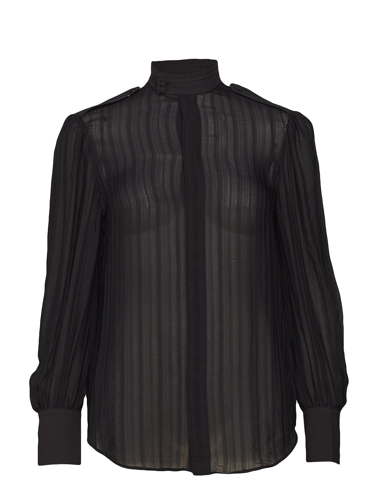 Polo Ralph Lauren Jacquard Stripe Silk Blouse Ögrönlar