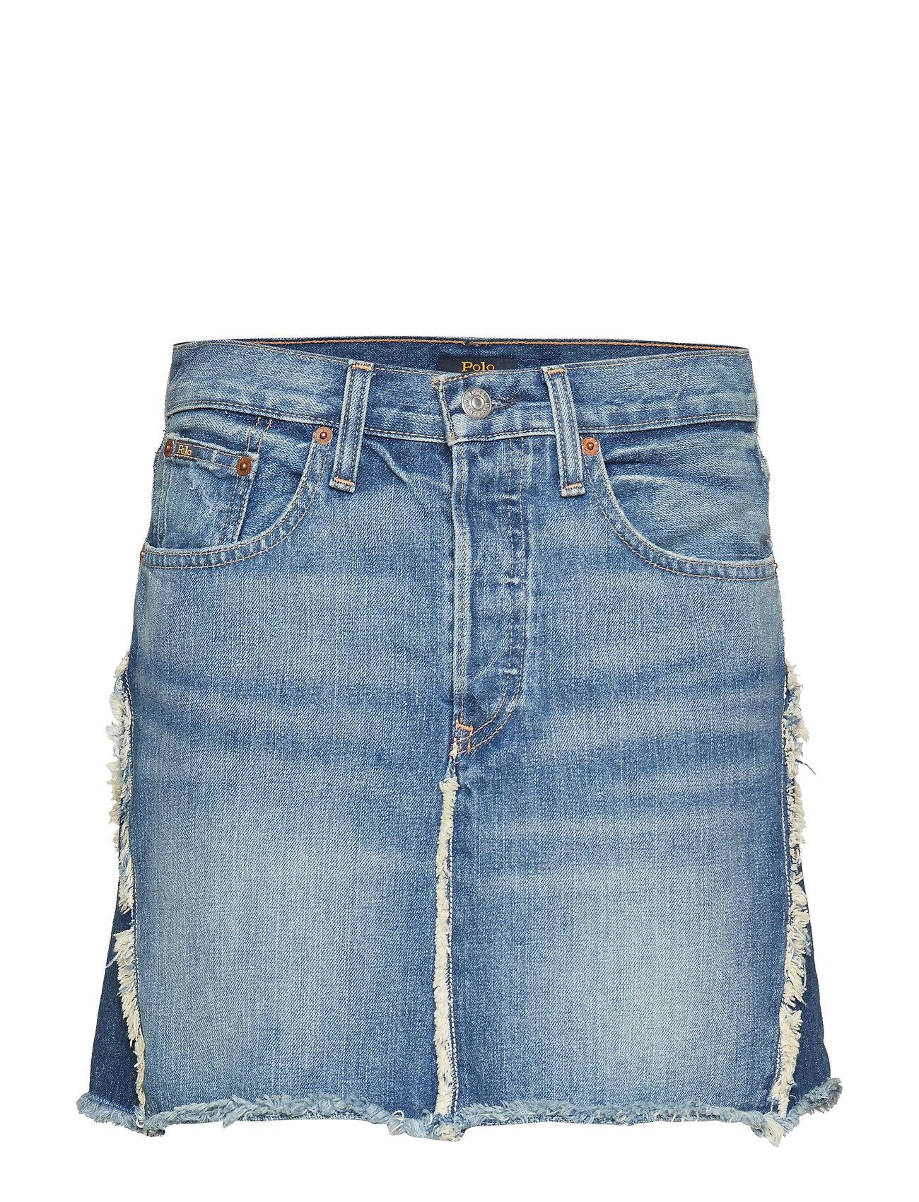 Polo Ralph Lauren Two-Tone Denim Skirt