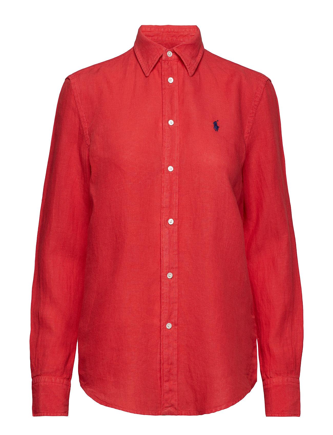 Polo Ralph Lauren GARMENT DYE LINEN-LSL-SHT - FADED RED