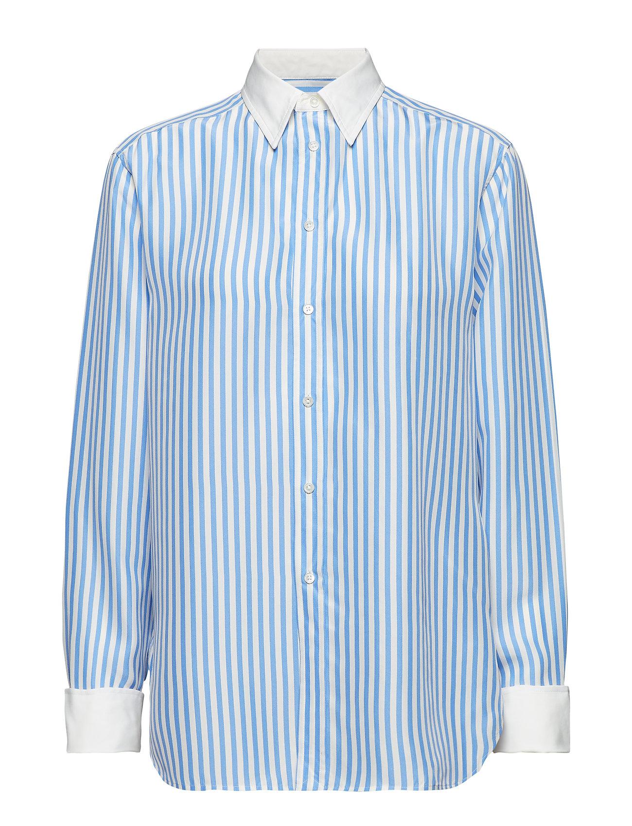 Polo Ralph Lauren PRNTD SLK BRDCLTH-LSL-SHT - 101B AUSTIN BLUE/