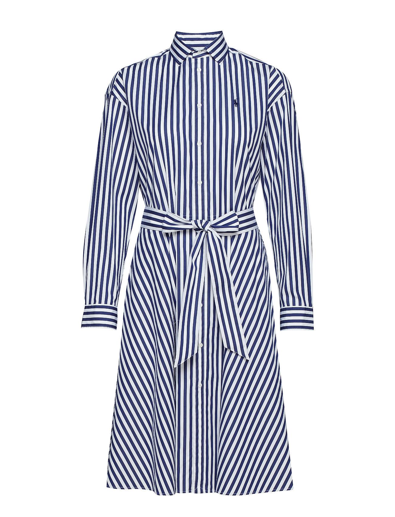 Cotton Navy Shirtdress955d Broadcloth whitePolo Lauren Ralph QrhodCtsxB