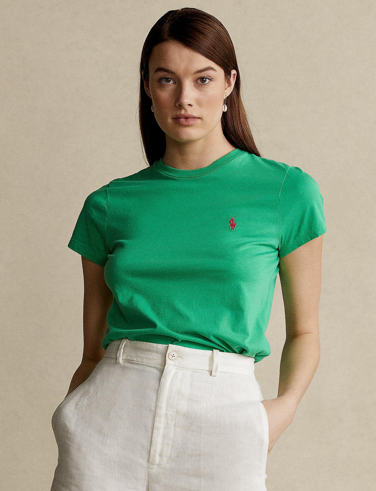 Polo Ralph Lauren - Cotton Jersey Crewneck Tee - t-shirts - golf green - 0