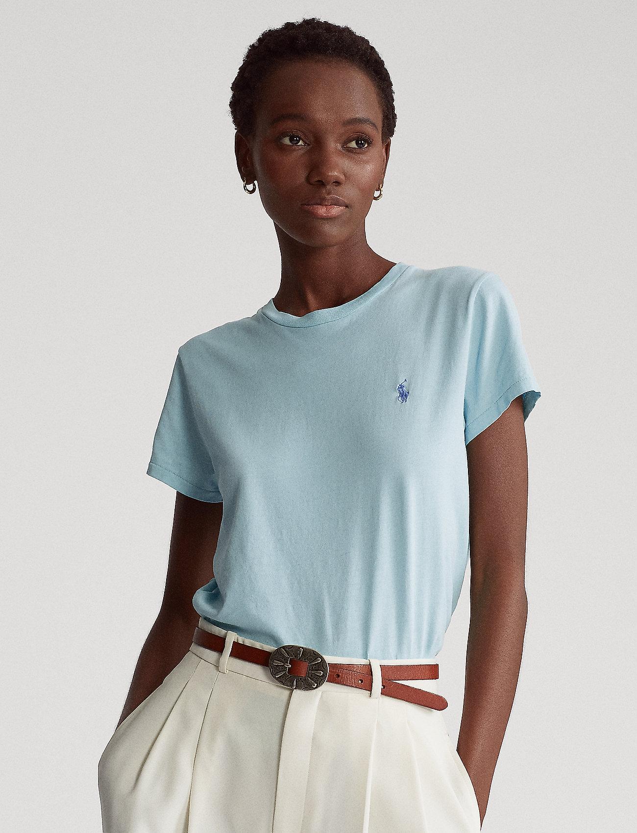 Polo Ralph Lauren - Cotton Jersey Crewneck Tee - t-shirts - parakeet - 0
