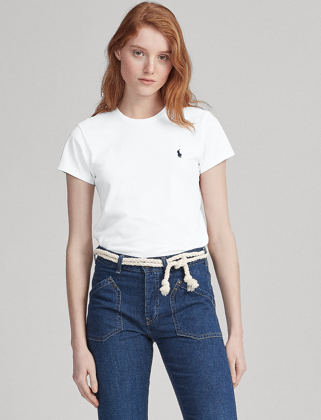 Polo Ralph Lauren - Cotton Jersey Crewneck Tee - t-shirts - white - 0