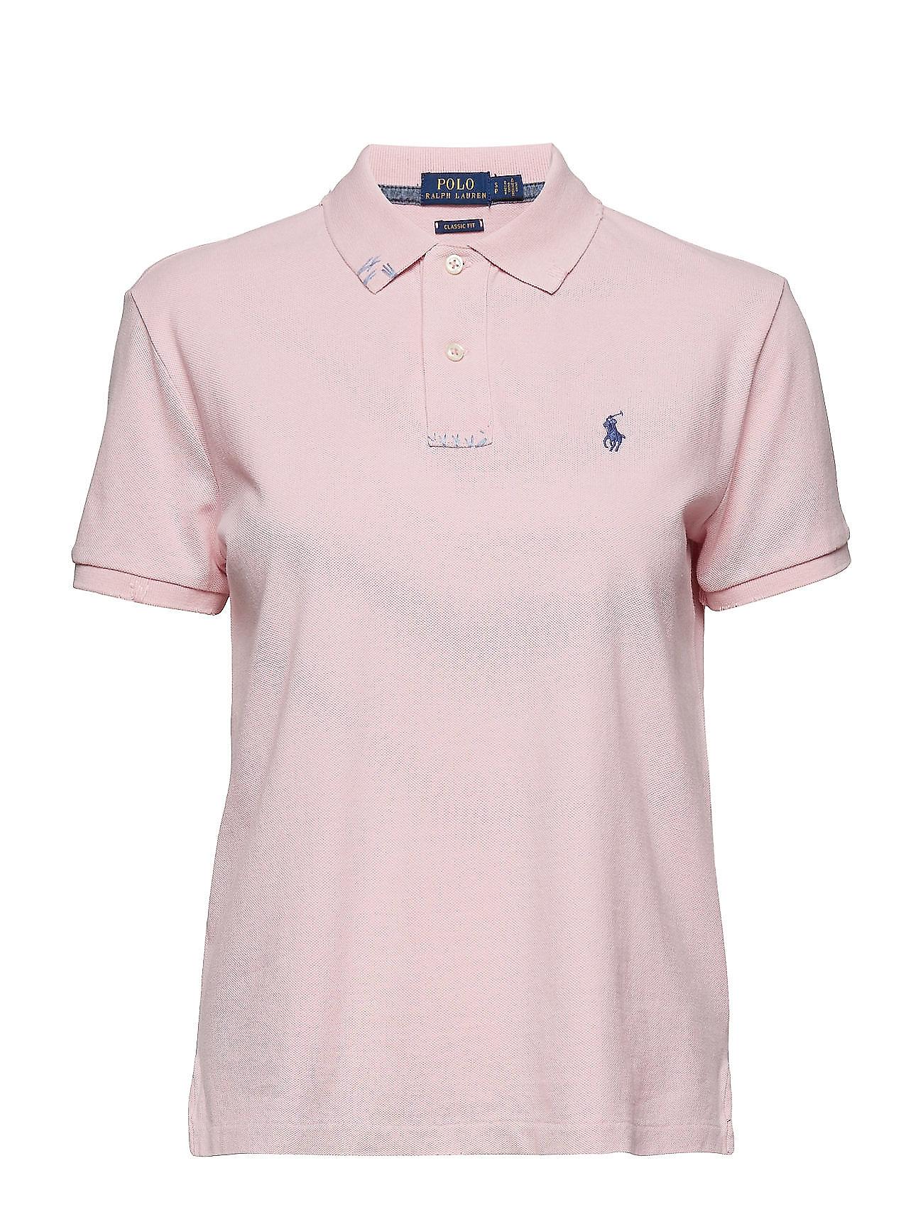 0176421e Classic Fit Cotton Polo Shirt (Resort Pink) (£59.40) - Polo Ralph ...