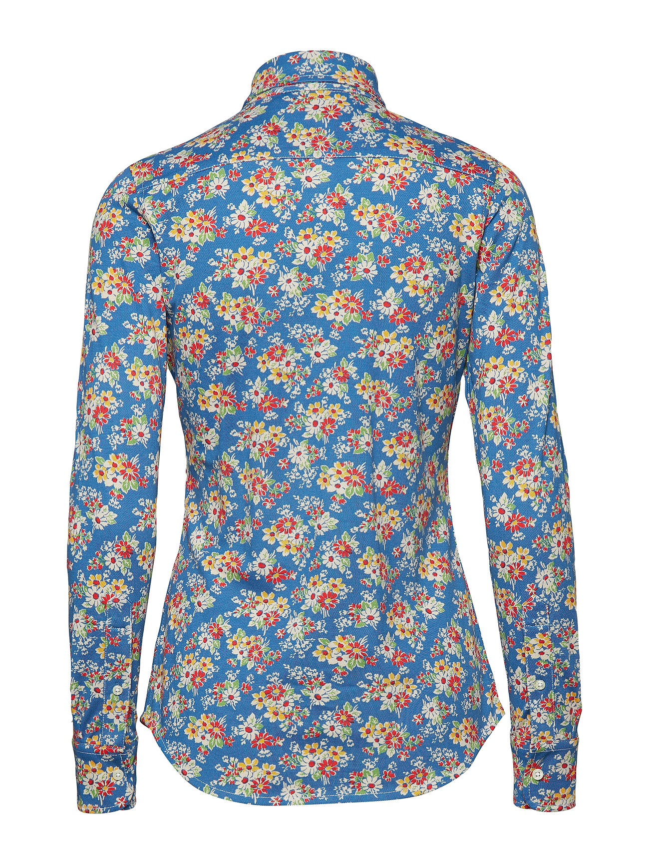 FloralPolo Lauren Oxford Shirtblue Ralph Print Knit Cotton byf76g