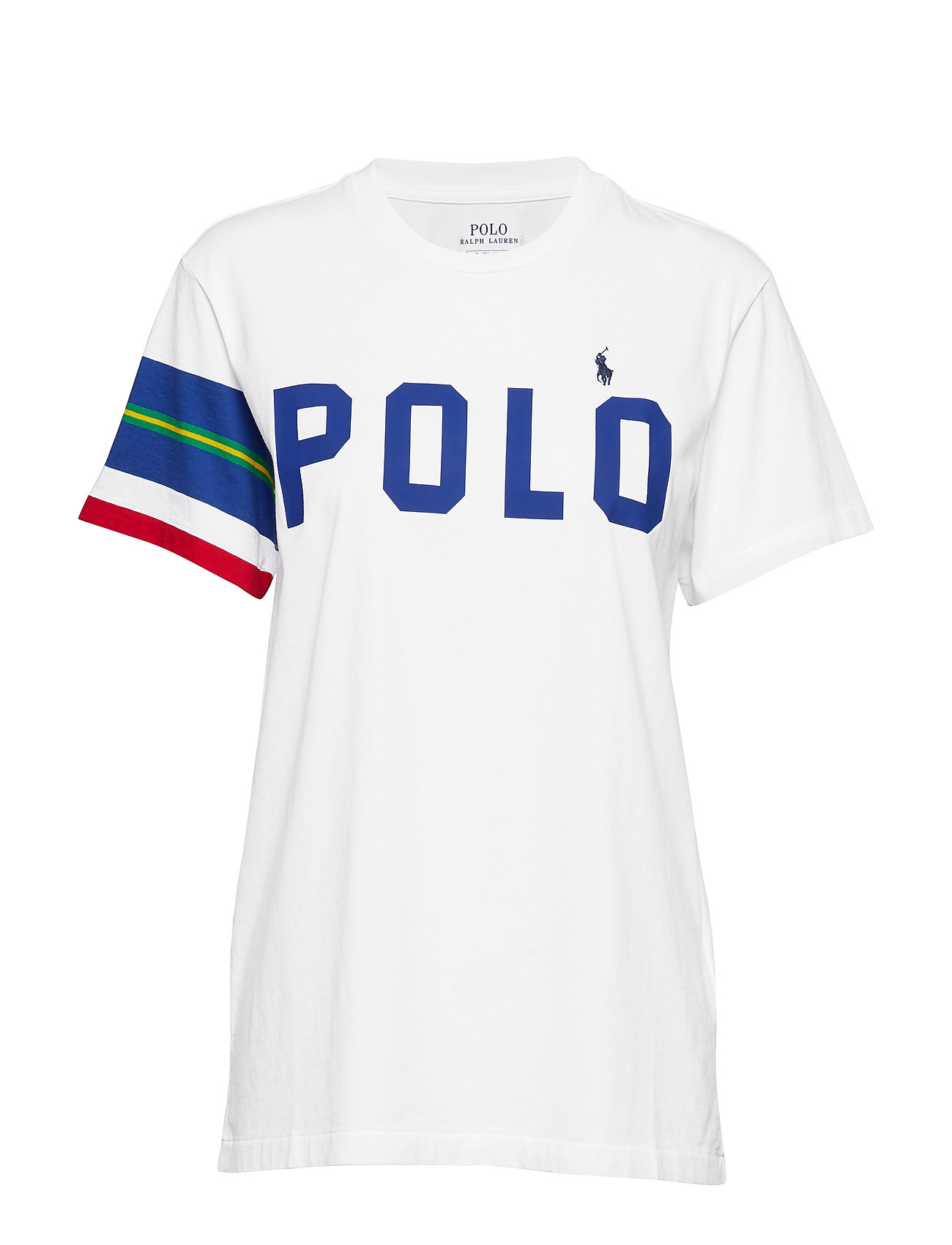 Polo Ralph Lauren Big Fit Striped-Sleeve Tee