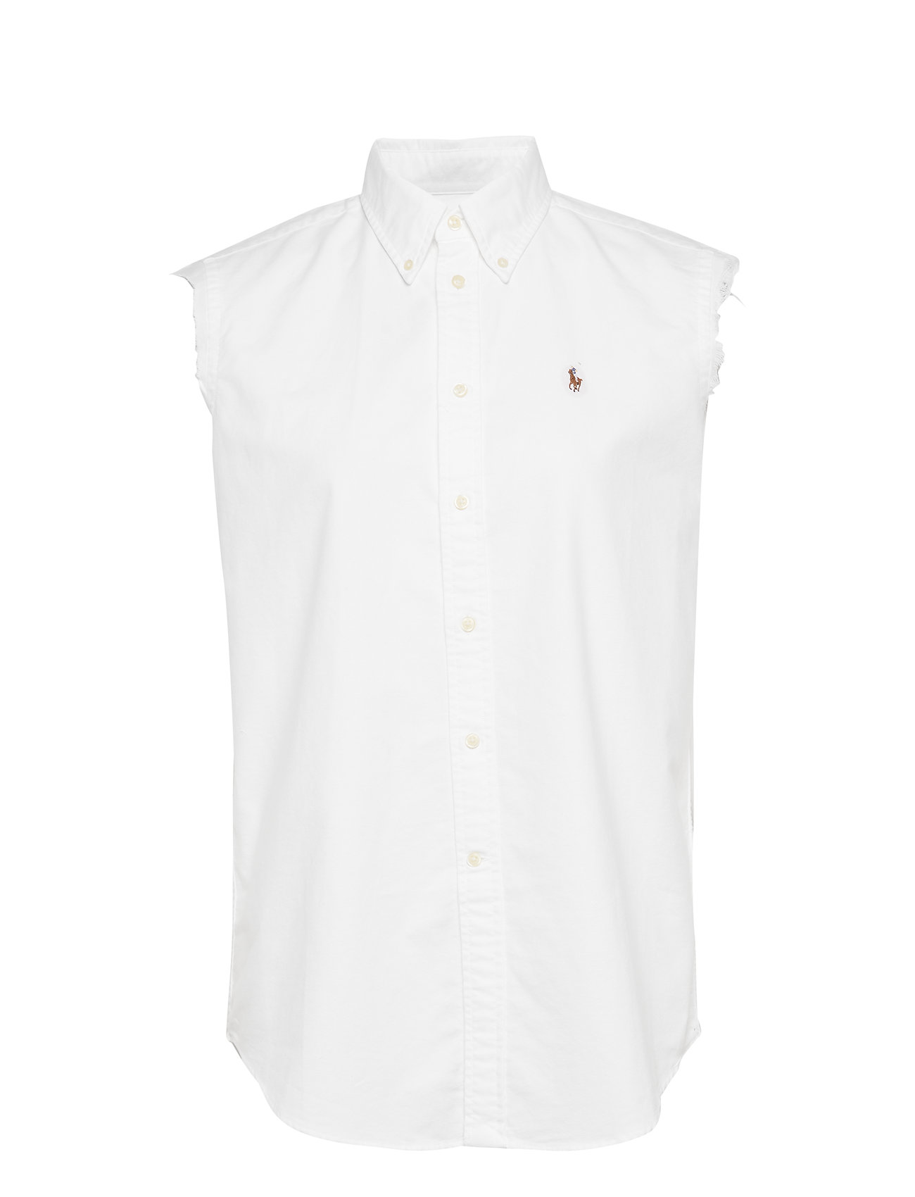 Polo Ralph Lauren Frayed Sleeveless Oxford Shirt