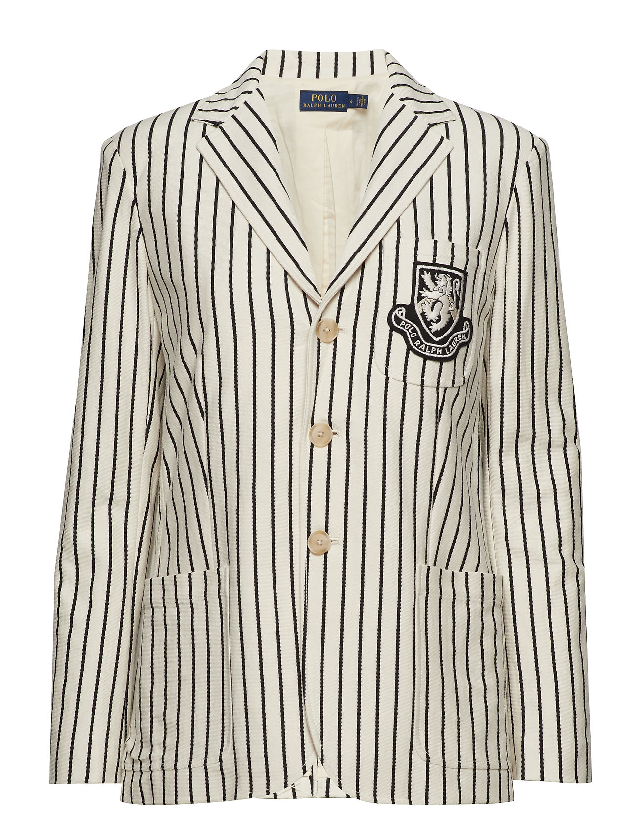 Polo Ralph Lauren Striped Patch Cotton Blazer