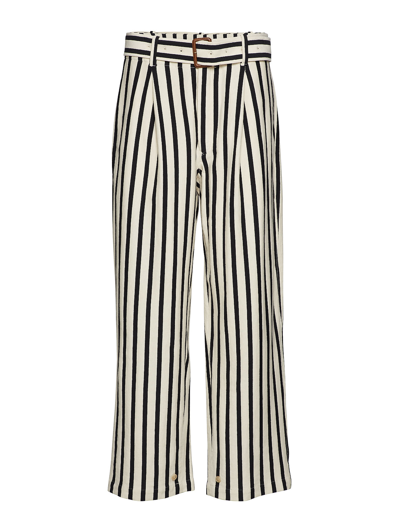 new collection low price sale latest Striped Cotton Wide-leg Pant (Winter Cream/polo) (129.35 €) - Polo ...