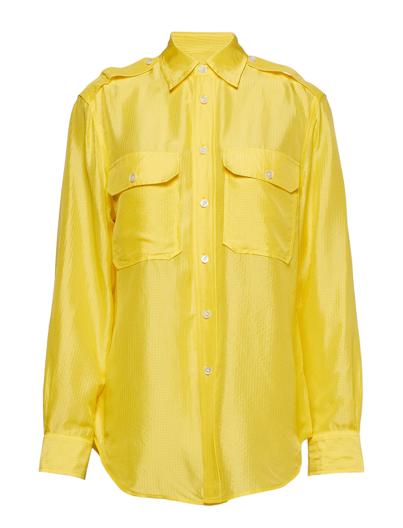Polo Ralph Lauren Silk Military Shirt - OPTIC YELLOW