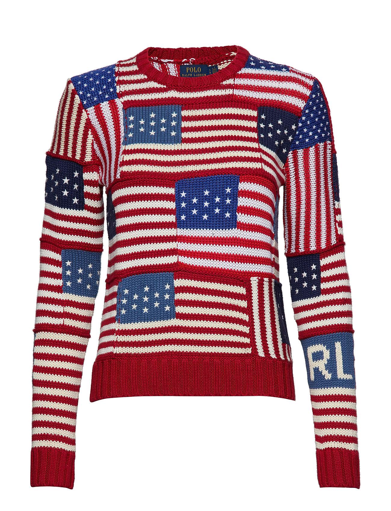 Polo Ralph Lauren Flag Cotton Sweater - MULTI