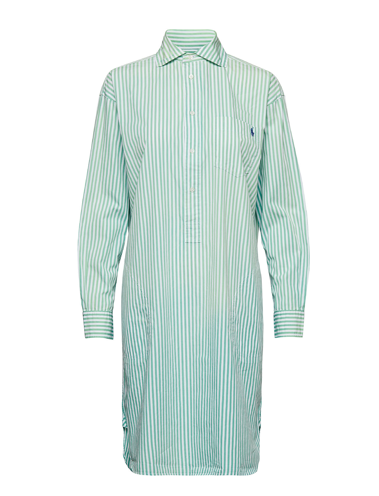 Polo Ralph Lauren Striped Poplin Shirtdress - 112A SEAFOAM GREE