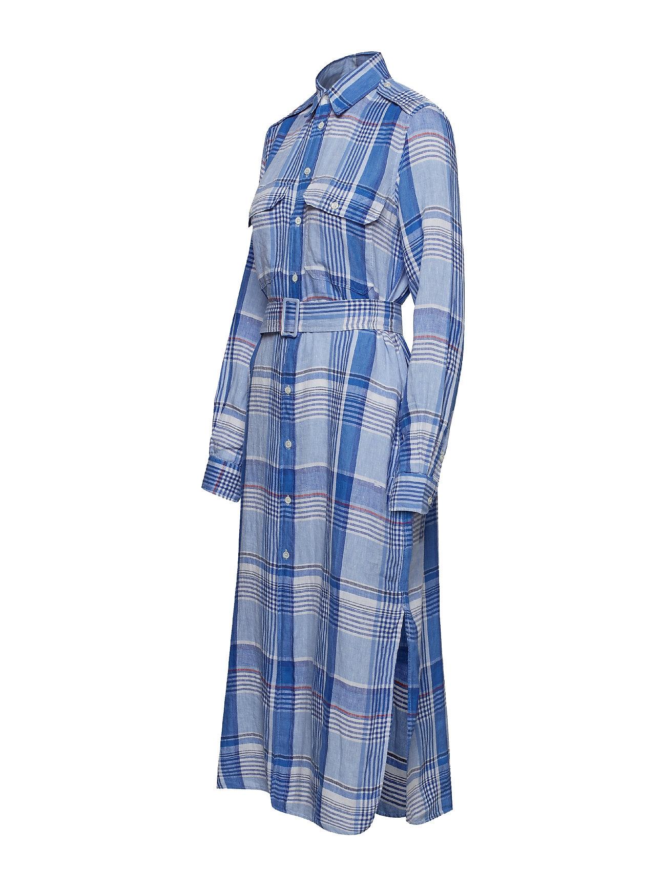 Ralph Linen Lauren Royal Plaid oceanPolo Shirtdress3270 0X8wPknO