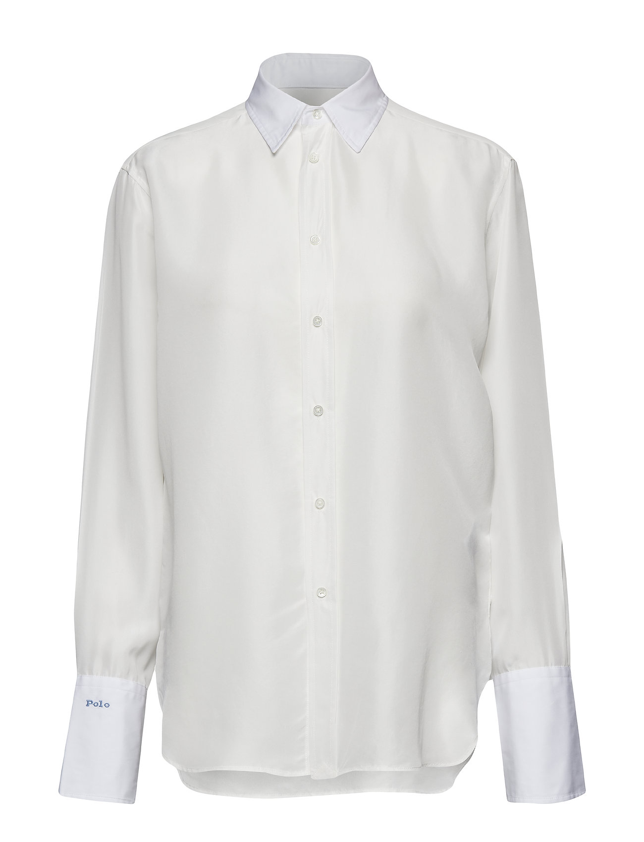 Polo Ralph Lauren Silk-Broadcloth Button-Down