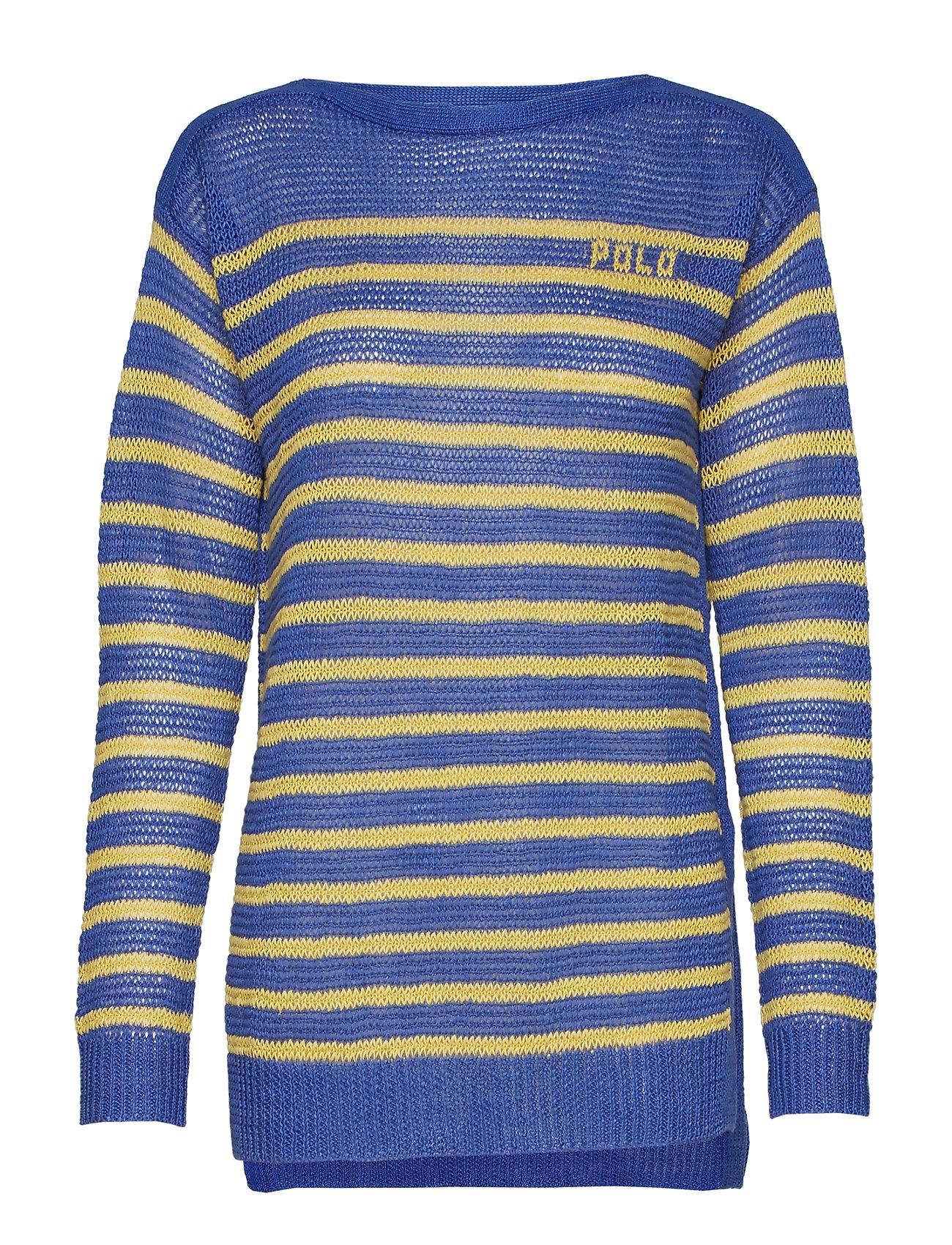 Polo Striped Lauren Sweatermaidstone suRalph Blue Linen WEBoeQrdCx
