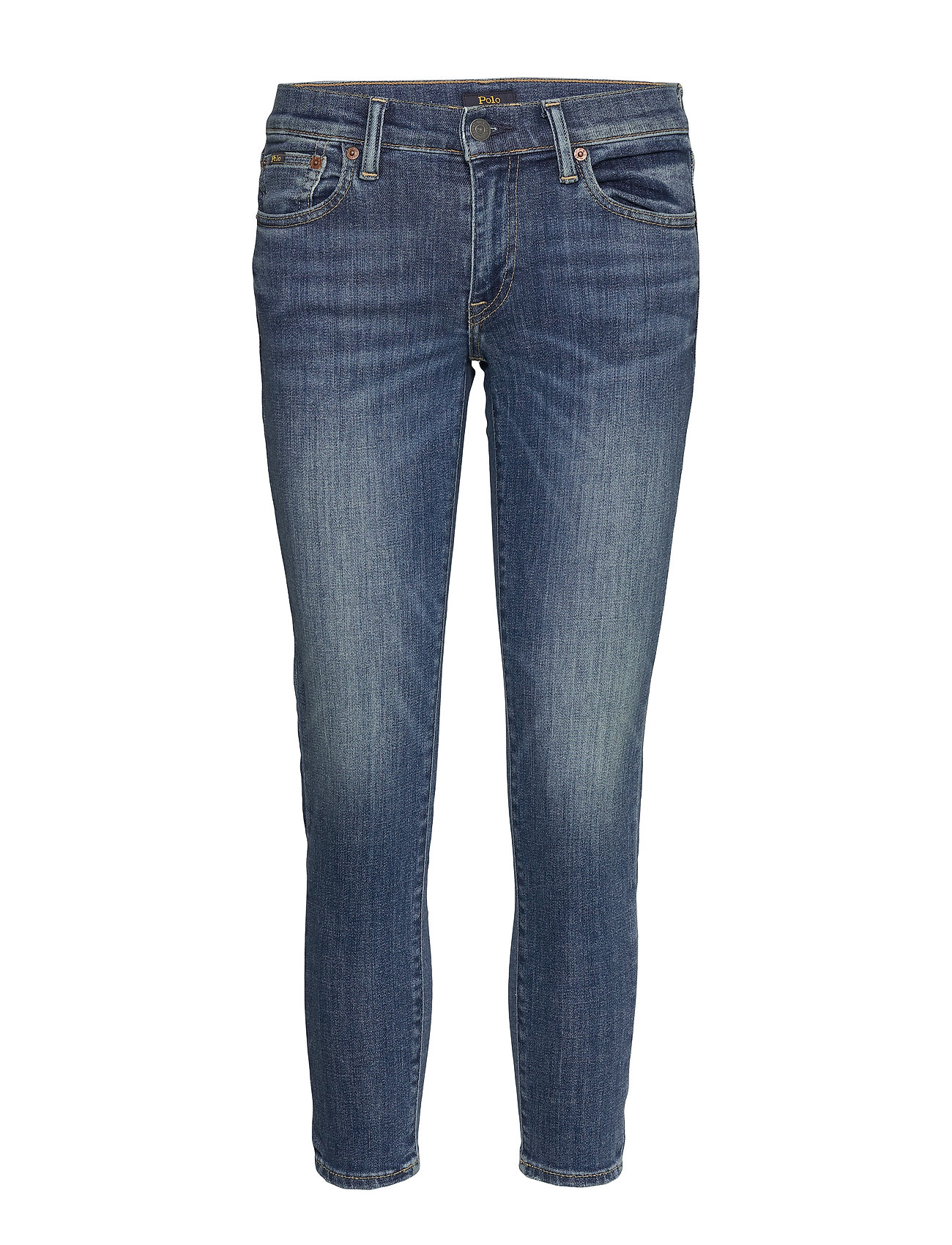 Polo Ralph Lauren Tompkins Skinny Crop Jean - MEDIUM INDIGO