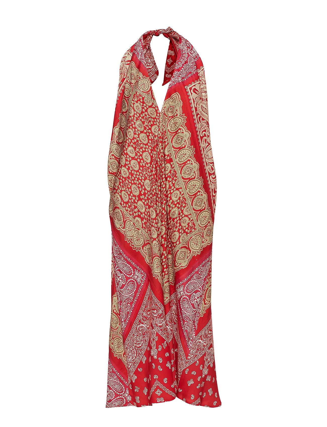 Polo Ralph Lauren Bandanna-Print Halter Dress - RED BANDANA PRINT