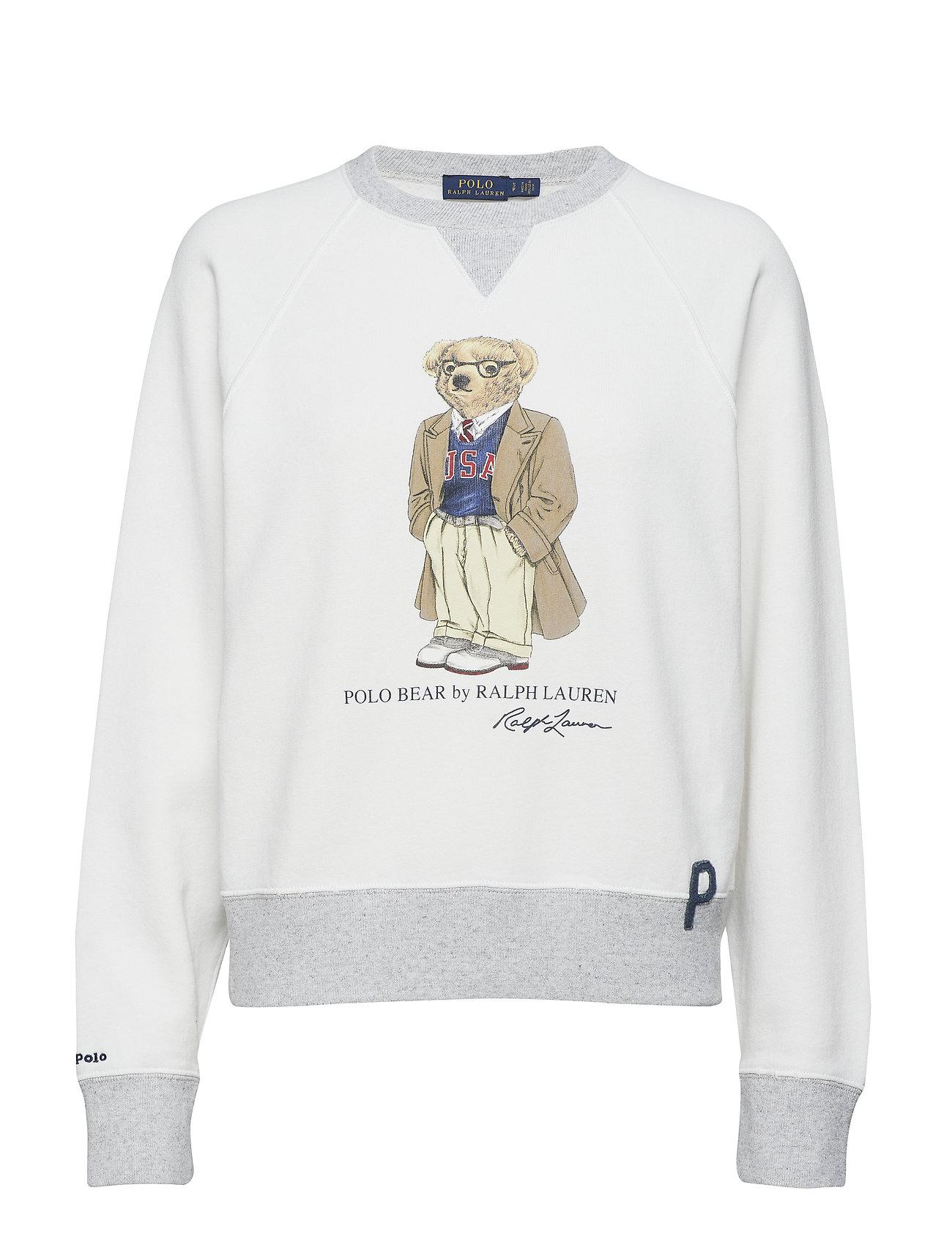 Polo Ralph Lauren USA Bear Pullover - DECKWASH WHITE
