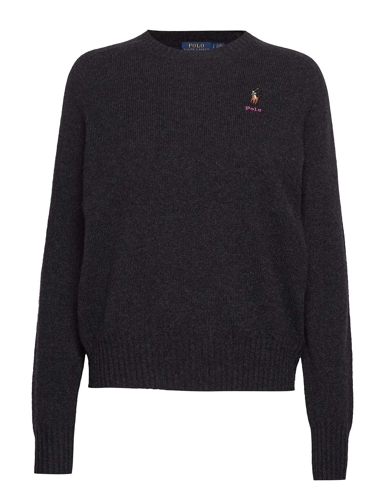 Polo Ralph Lauren Wool Crewneck Sweater - CHARCOAL HEATHER