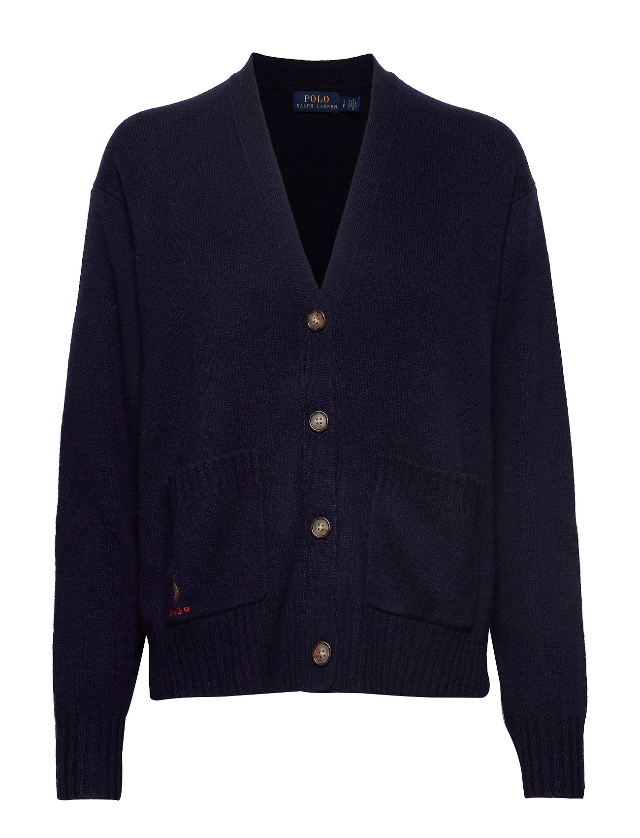 Polo Ralph Lauren Wool Long-Sleeve Cardigan - HUNTER NAVY