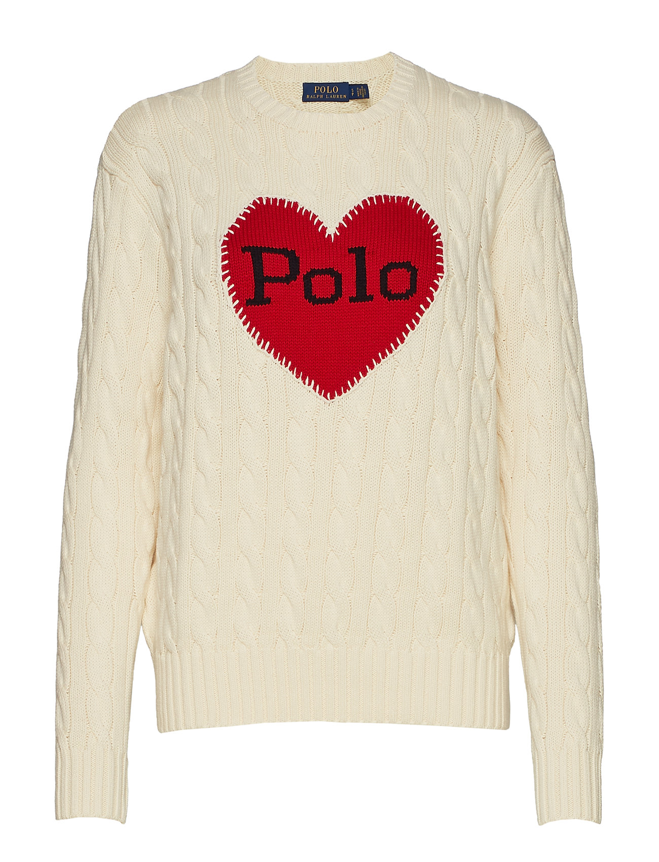 Polo Ralph Lauren Polo-Heart Cable-Knit Sweater