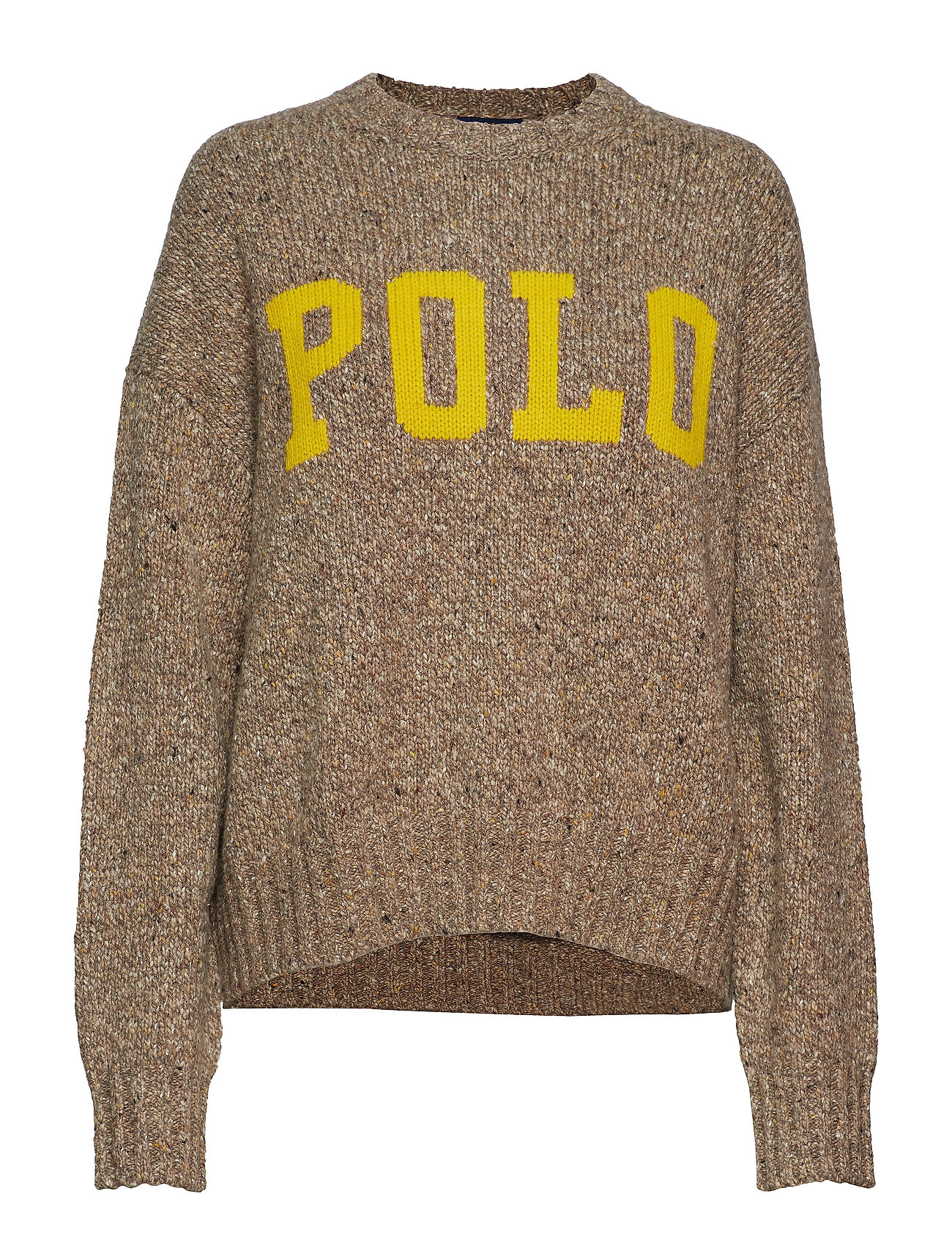 Polo Ralph Lauren Polo Wool-Blend Sweater - TAN DONEGAL/OLYMP