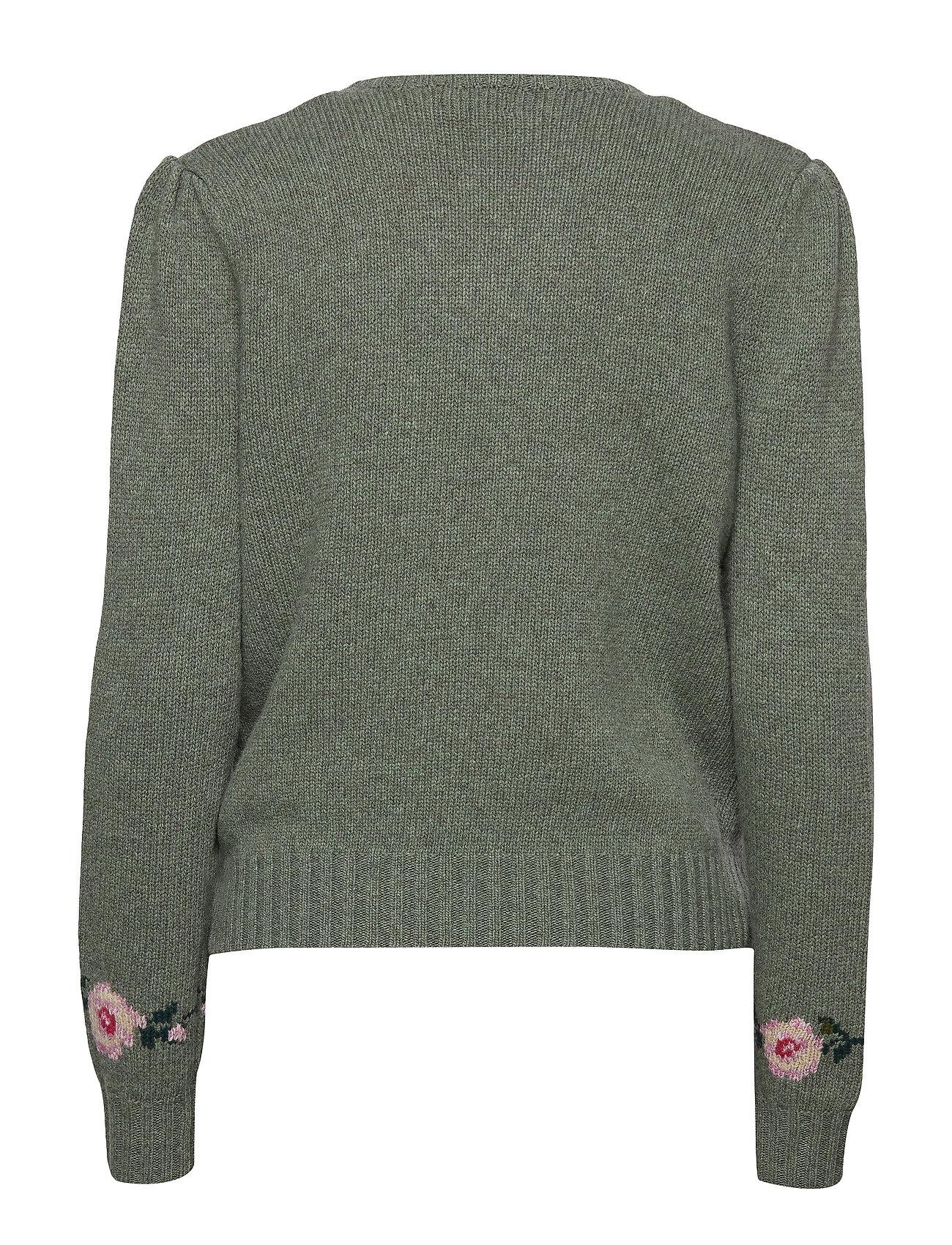 Puff sleeve MultiPolo Wool Sweaterloden Lauren Ralph blend xtsChrdQ