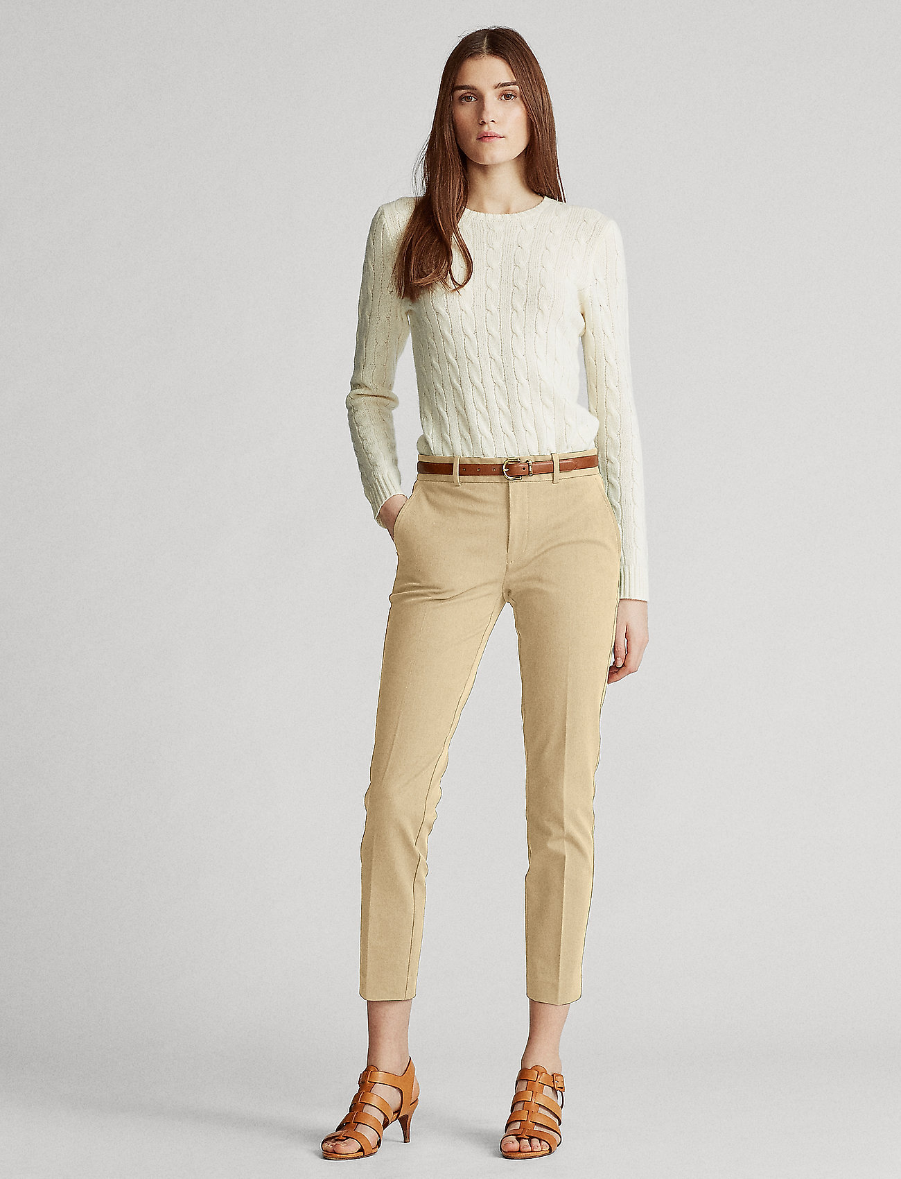 Polo Ralph Lauren - Bi-Stretch Twill Pant - slim fit bukser - luxury tan - 0